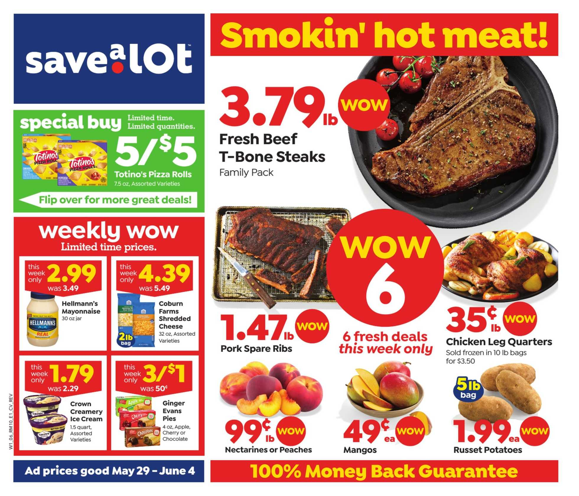 Save-A-Lot - deals are valid from 05/26/19 to 06/04/19 - page 1.