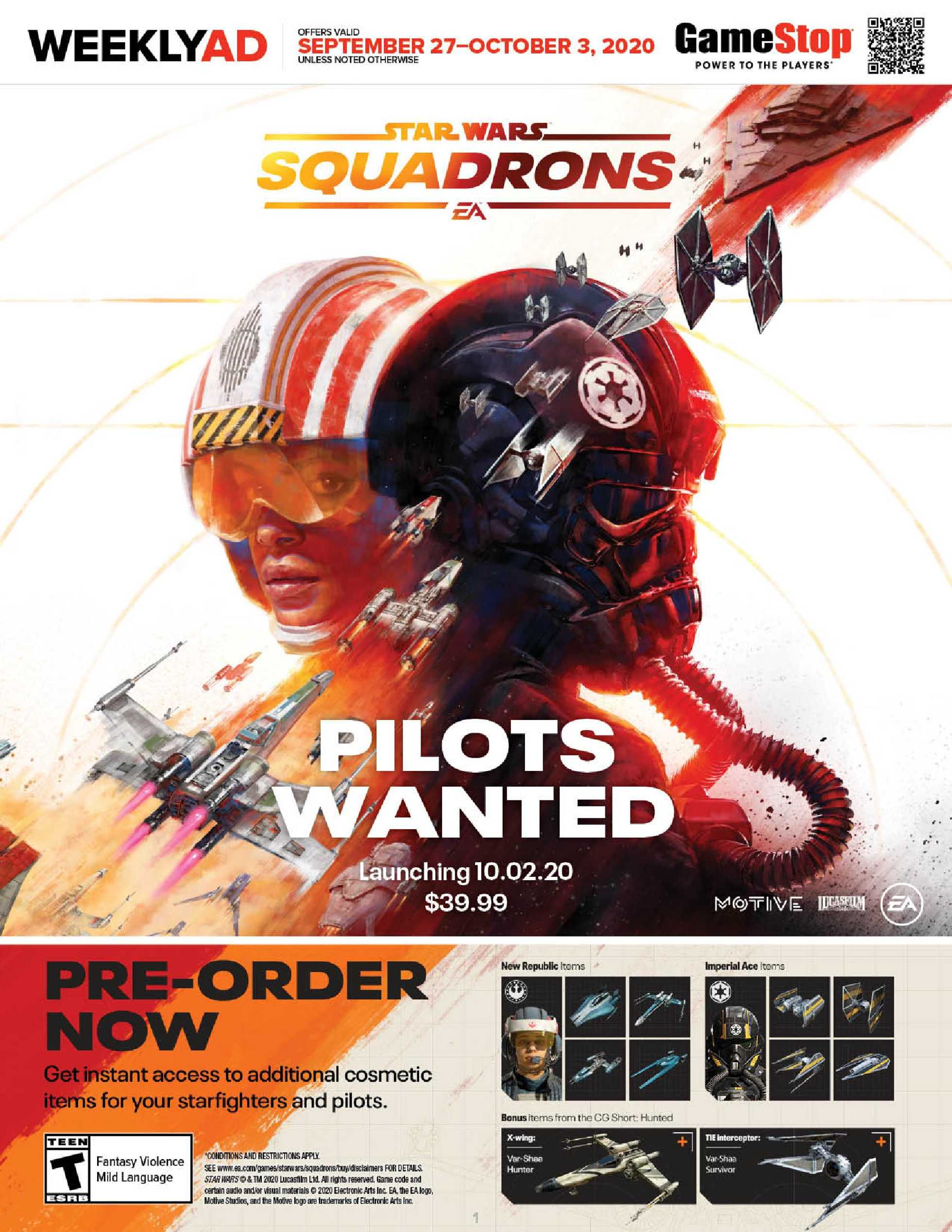 GameStop - deals are valid from 09/27/20 to 10/03/20 - page 1.
