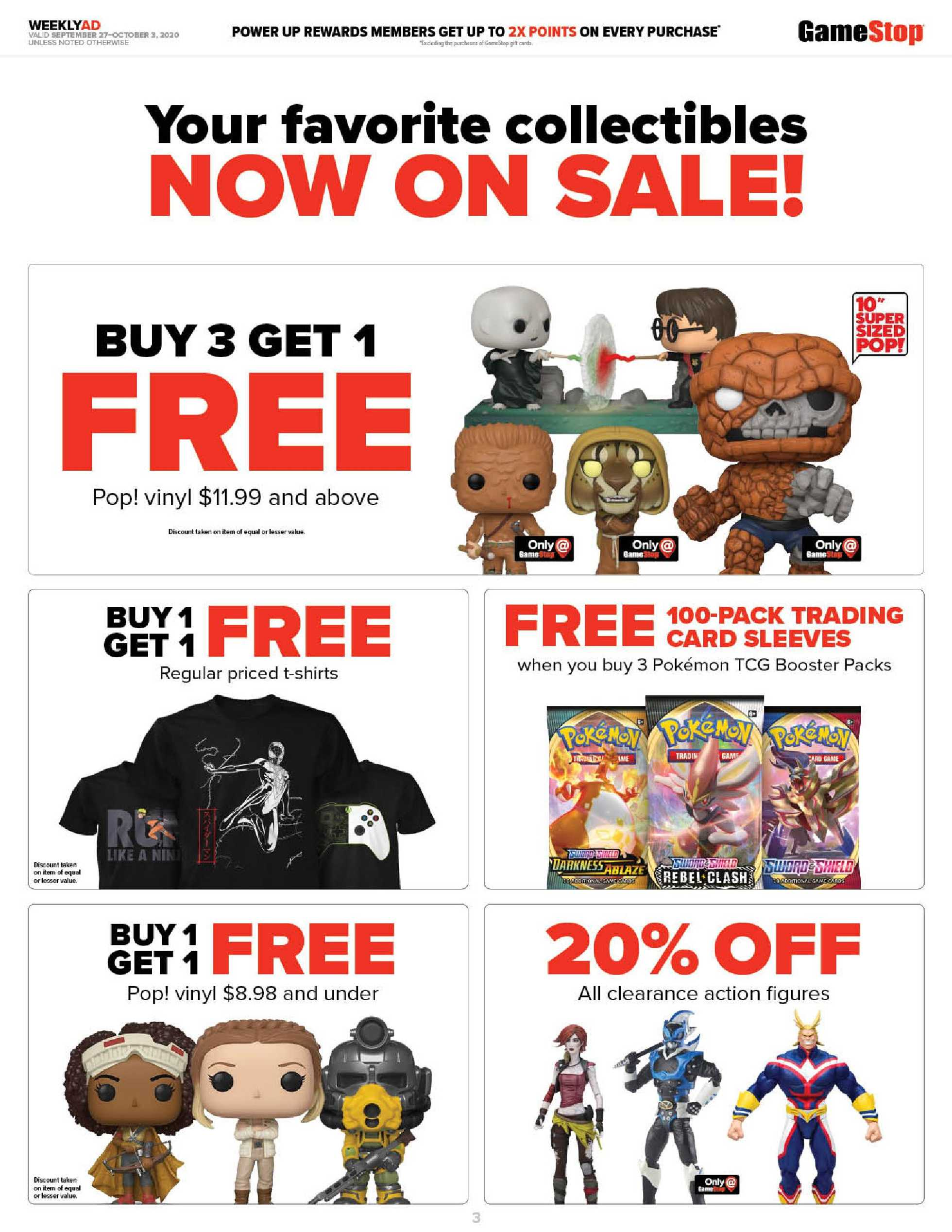GameStop - deals are valid from 09/27/20 to 10/03/20 - page 3.