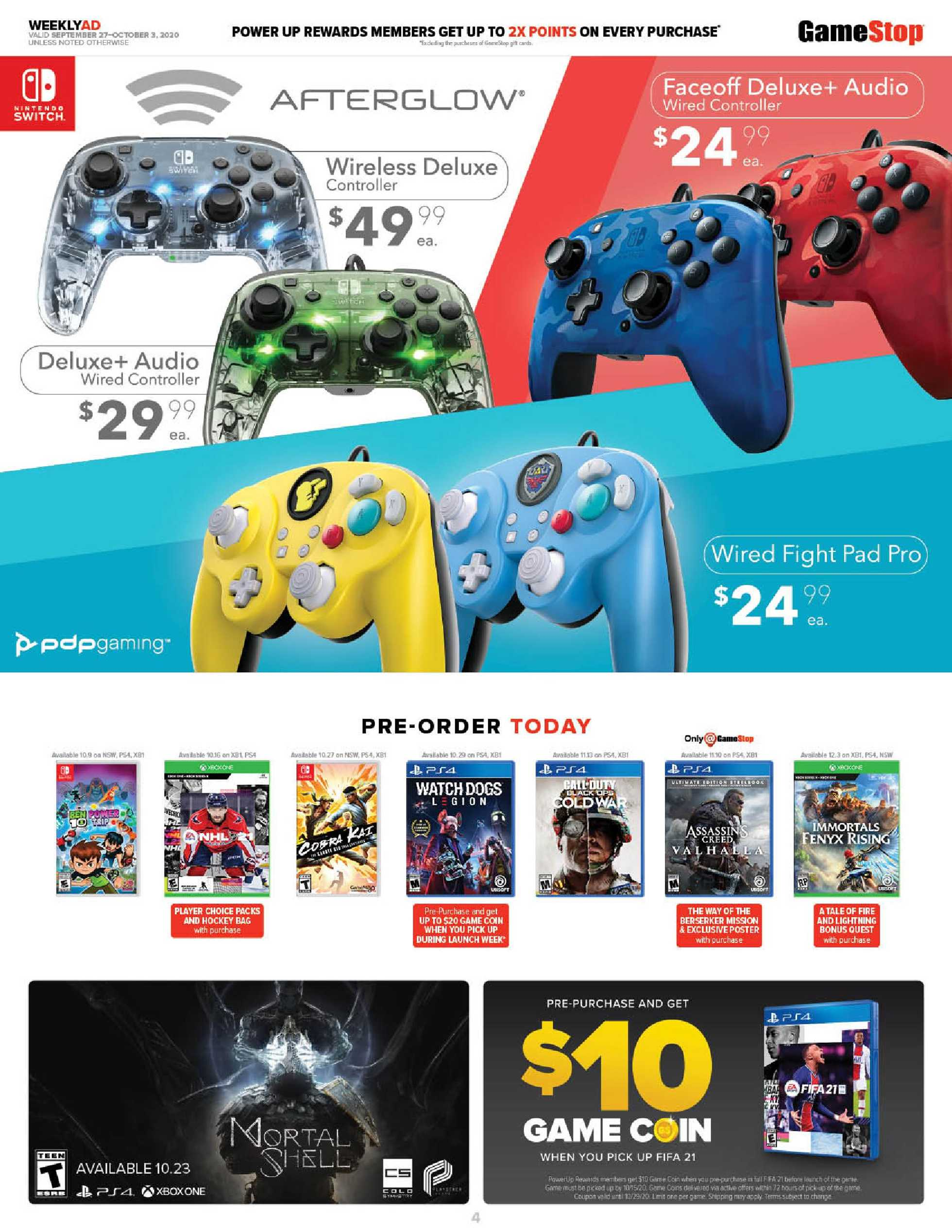 GameStop - deals are valid from 09/27/20 to 10/03/20 - page 4.
