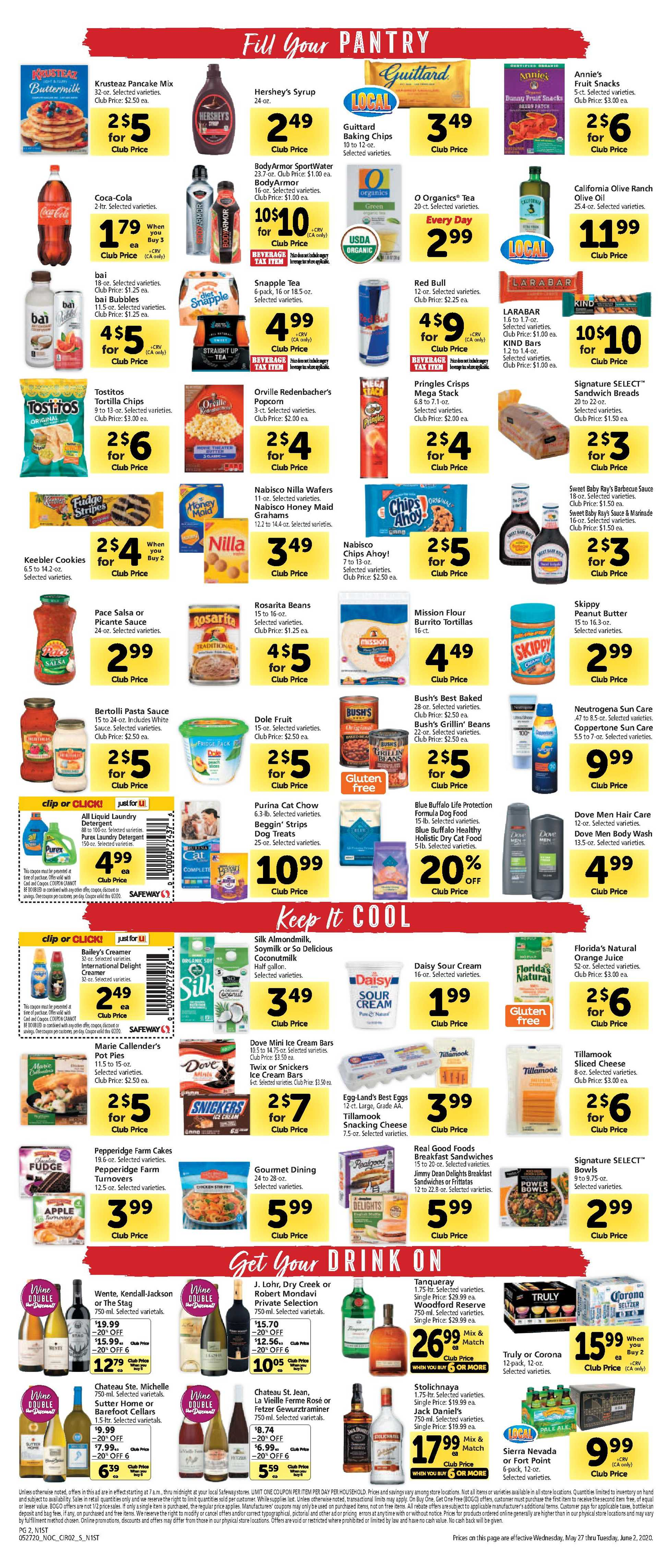 Safeway - deals are valid from 05/27/20 to 06/02/20 - page 2.