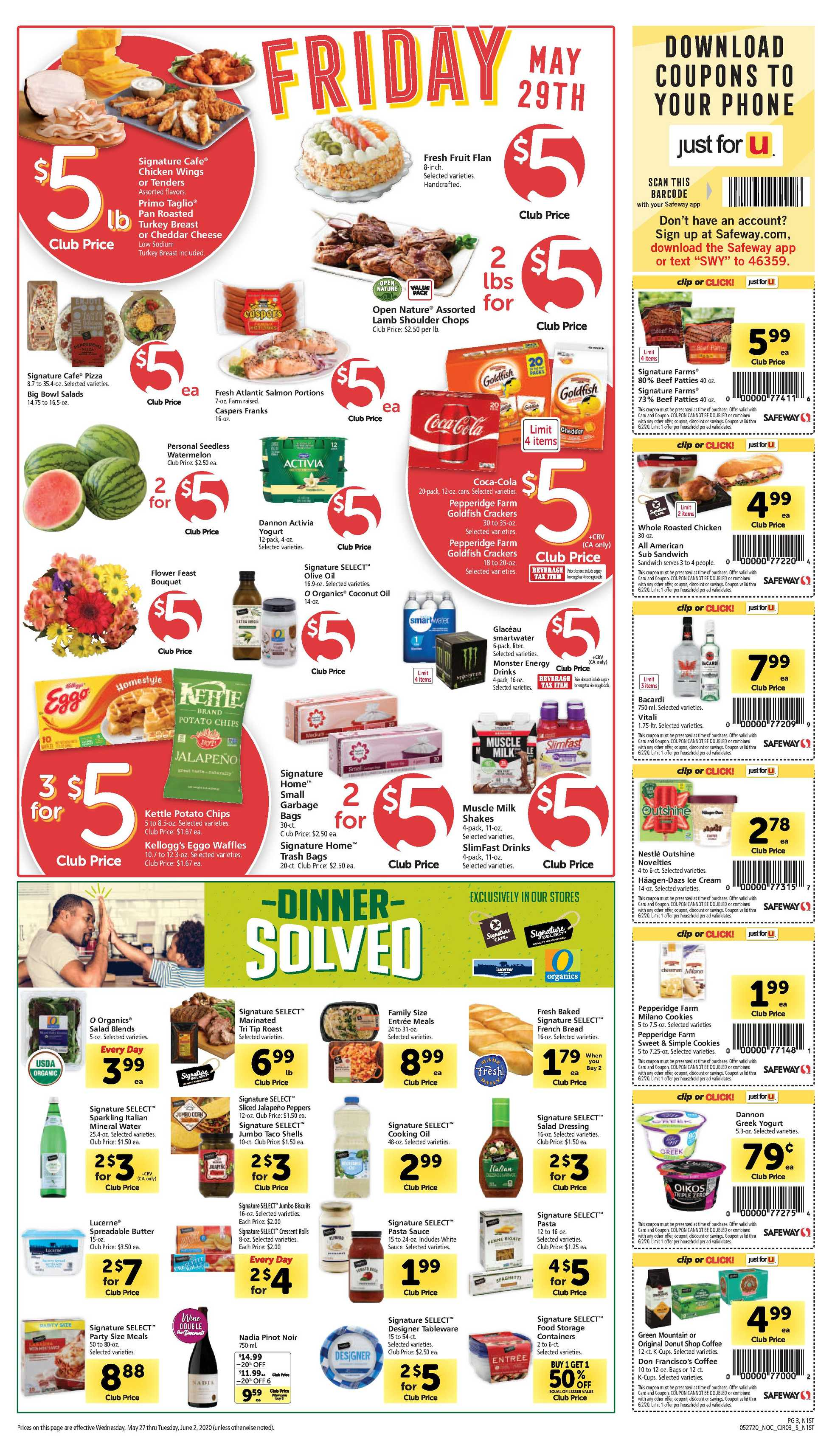 Safeway - deals are valid from 05/27/20 to 06/02/20 - page 3.