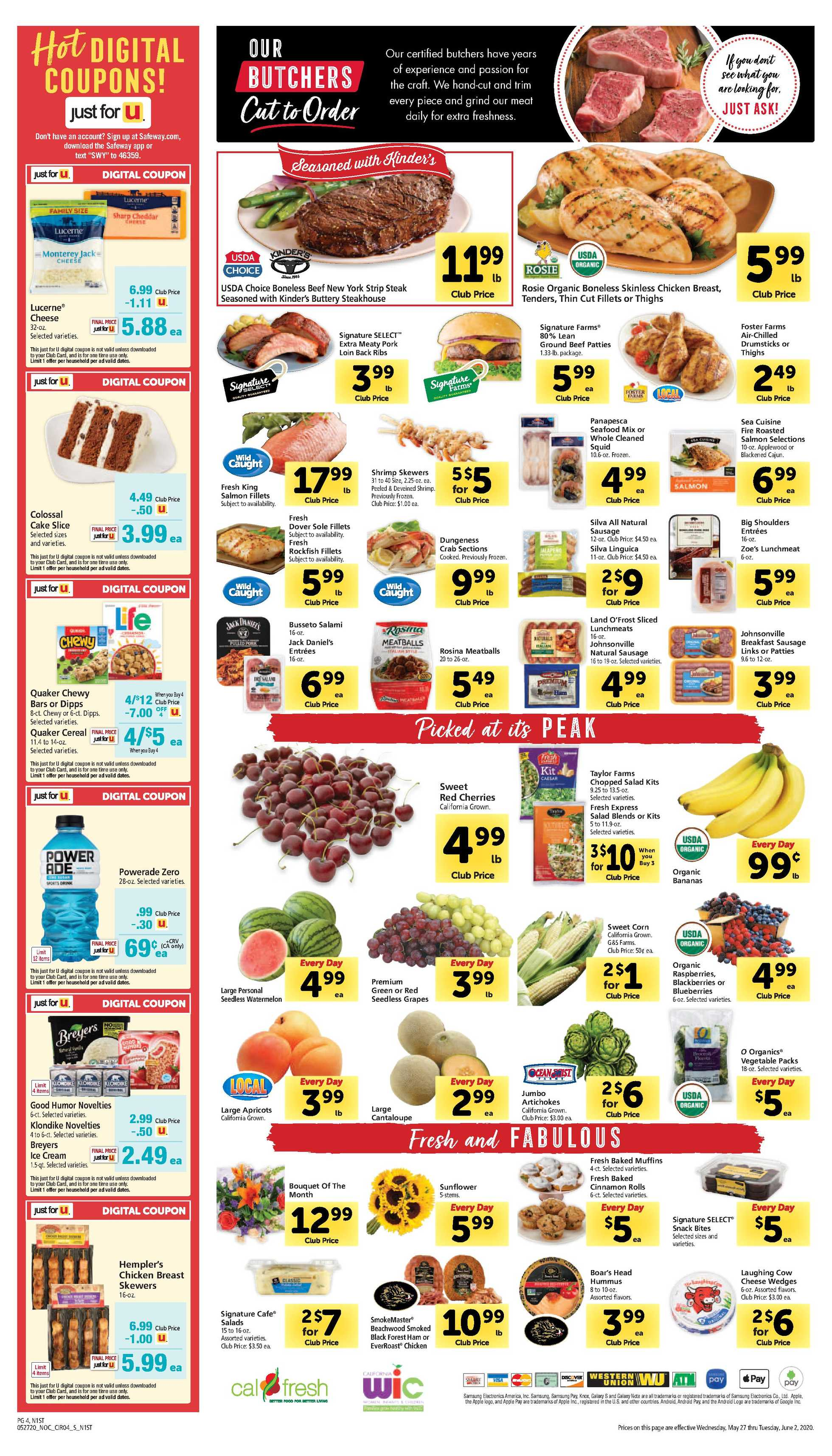Safeway - deals are valid from 05/27/20 to 06/02/20 - page 4.