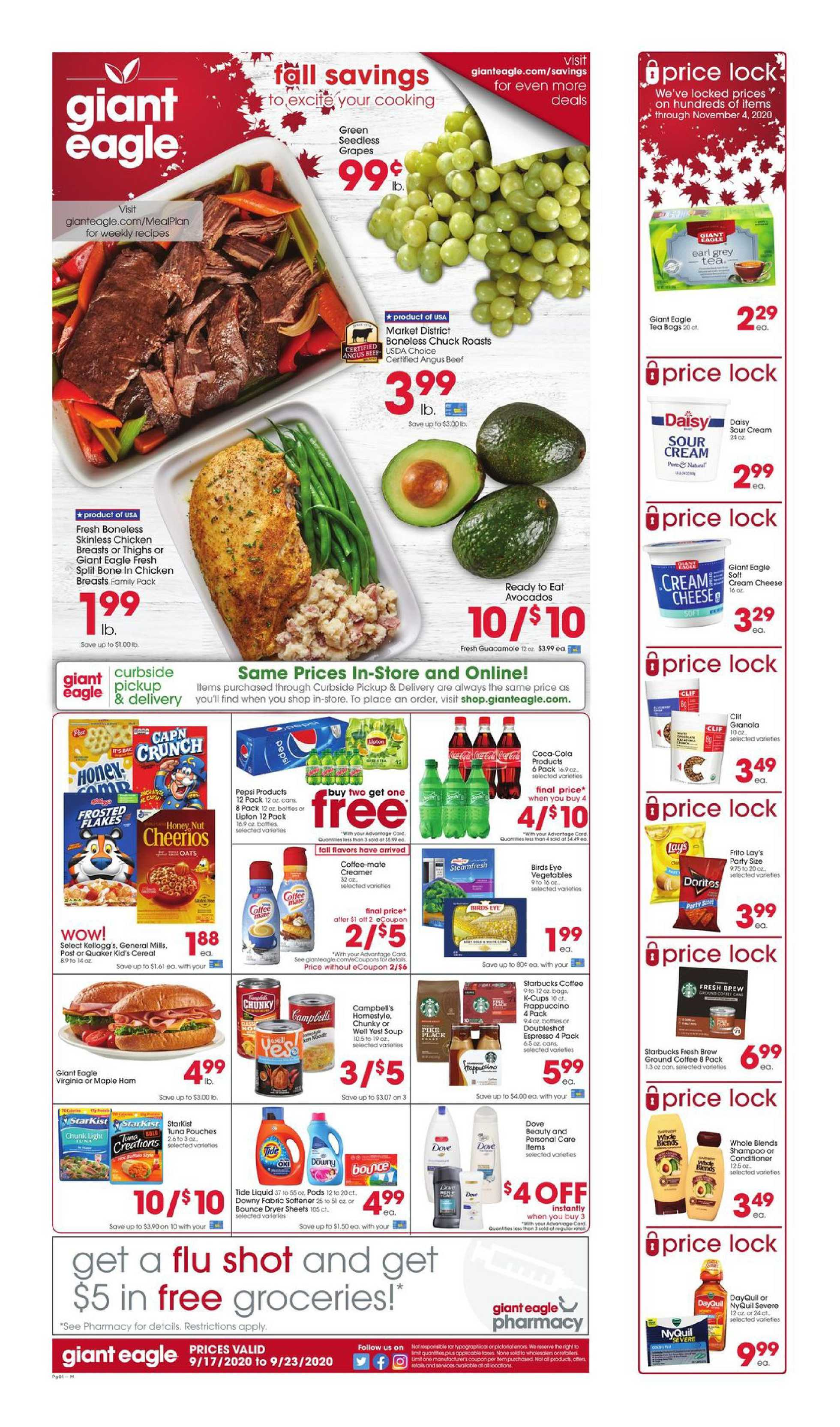 Giant Eagle - deals are valid from 09/17/20 to 09/23/20 - page 1.