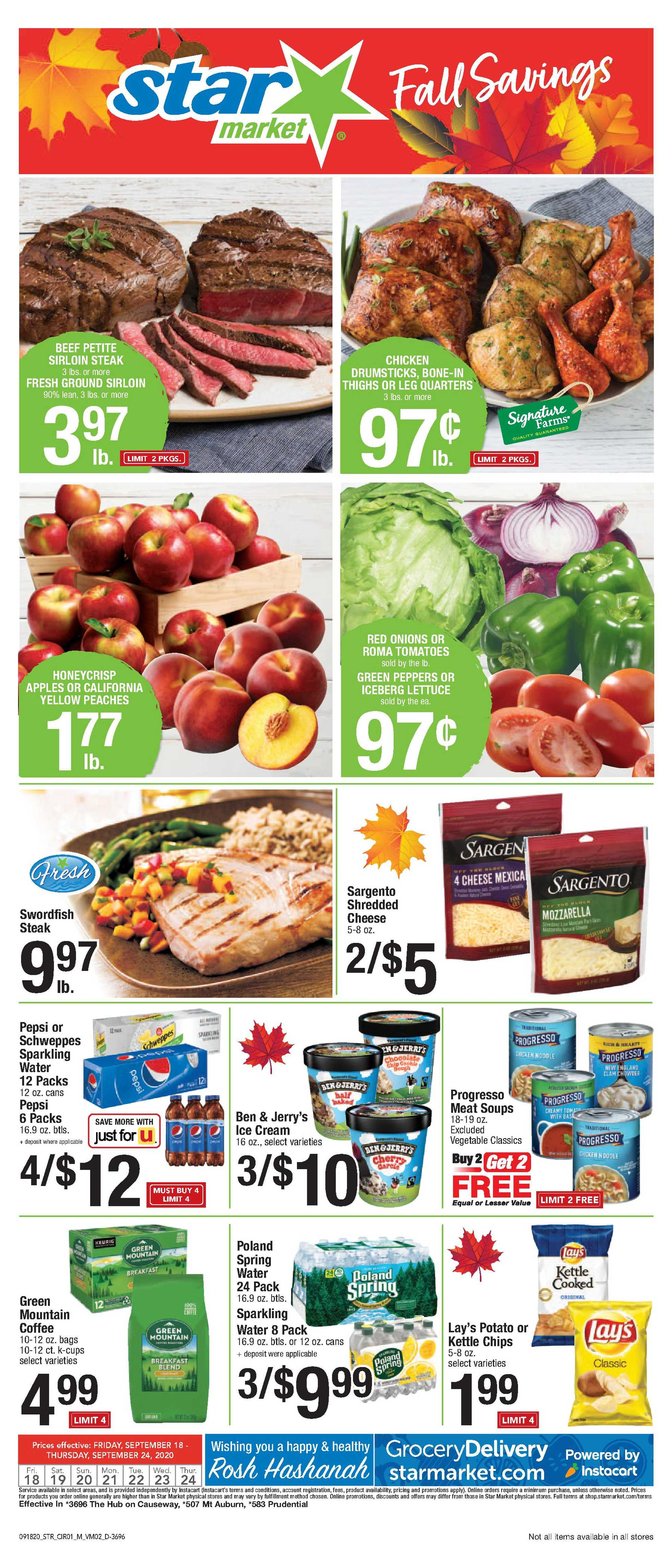 Star Market - deals are valid from 09/18/20 to 09/24/20 - page 1.