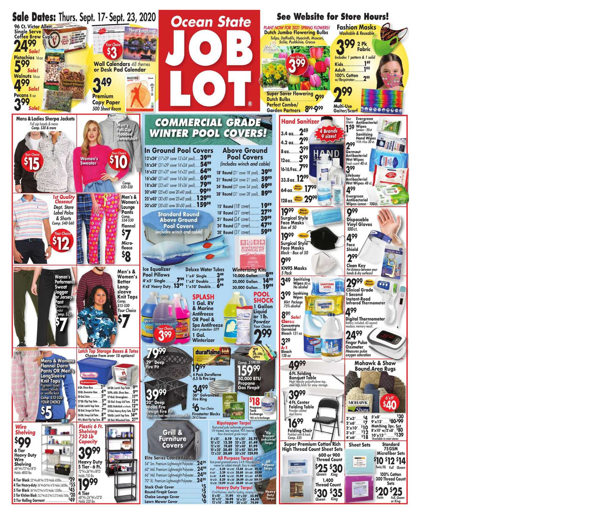 Ocean State Job Lot - deals are valid from 09/17/20 to 09/23/20 - page 1.