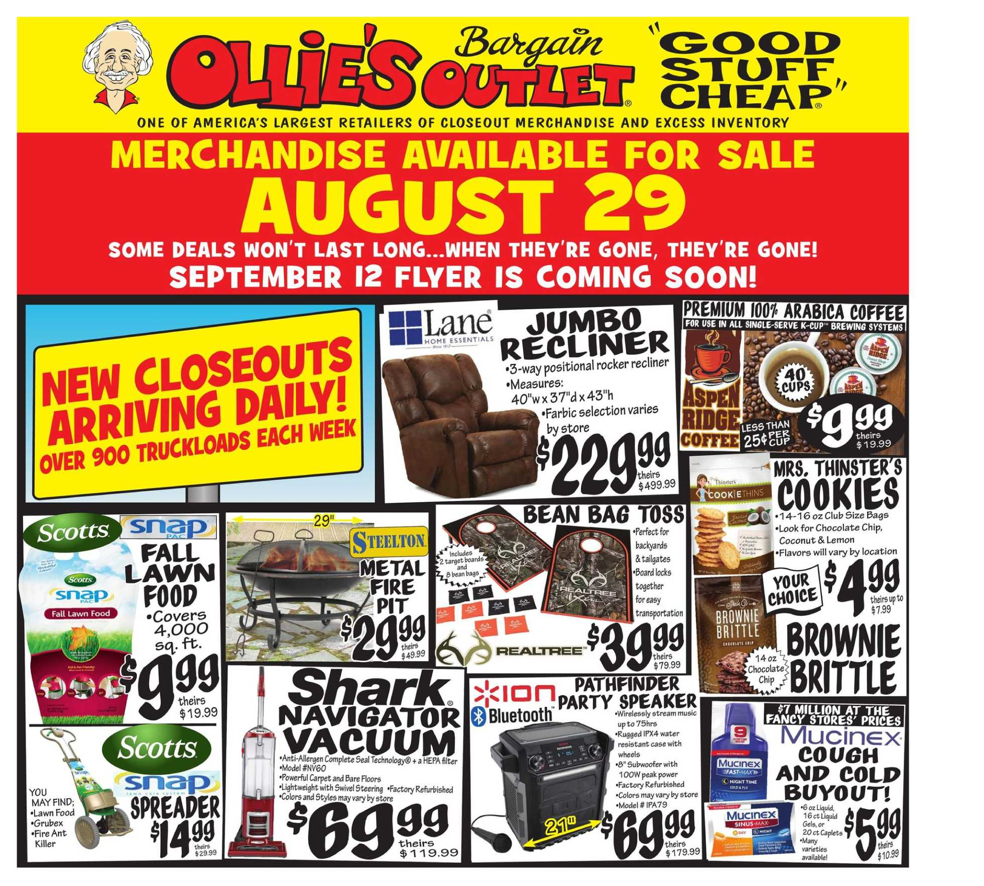 Ollie's Bargain Outlet - deals are valid from 08/29/19 to 09/05/19 - page 1.