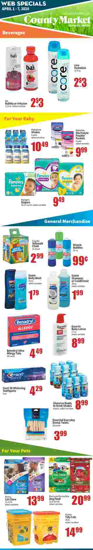 County Market - deals are valid from 04/01/20 to 04/07/20 - page 5.