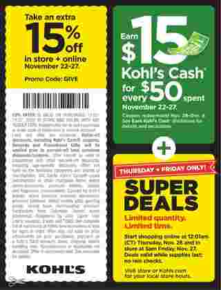 Kohl's - deals are valid from 11/22/20 to 11/27/20 - page 23.
