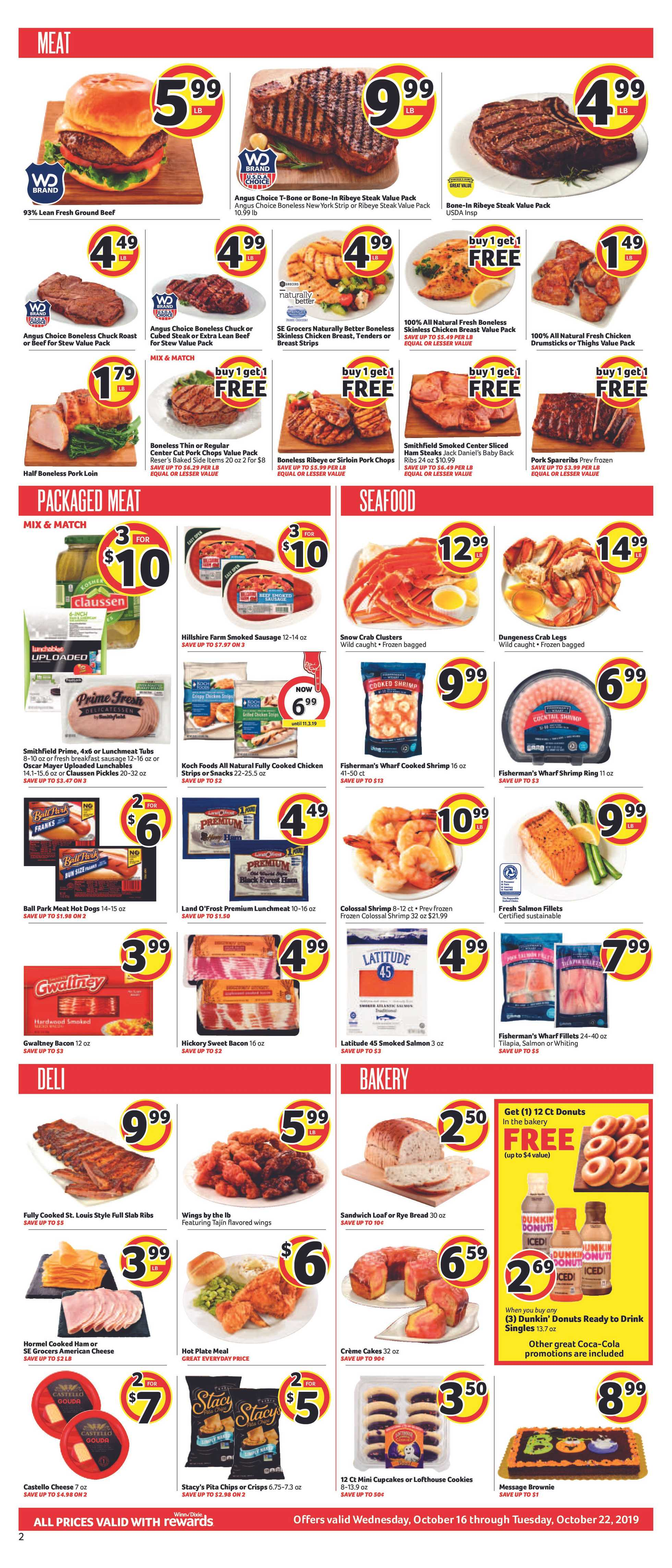 Winn Dixie - deals are valid from 10/16/19 to 10/22/19 - page 2.