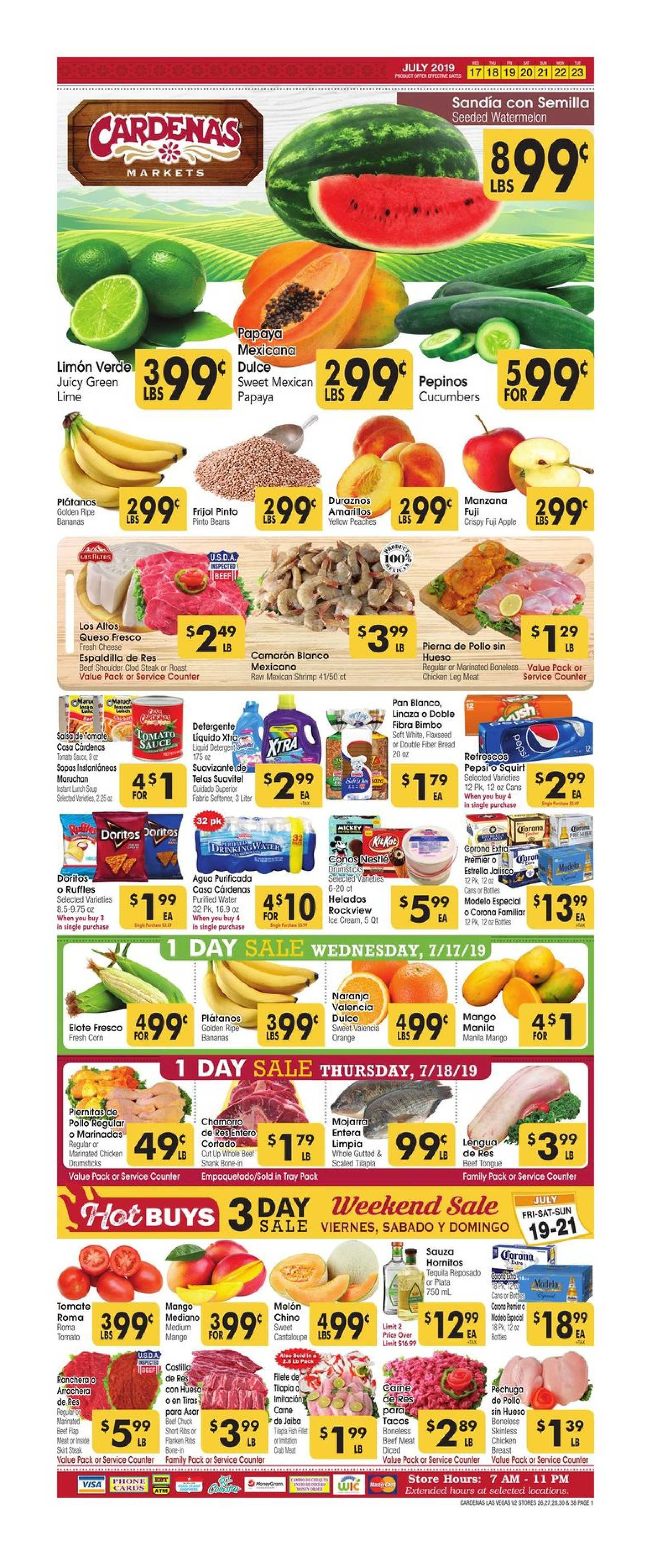 Cardenas - deals are valid from 07/17/19 to 07/23/19 - page 1.