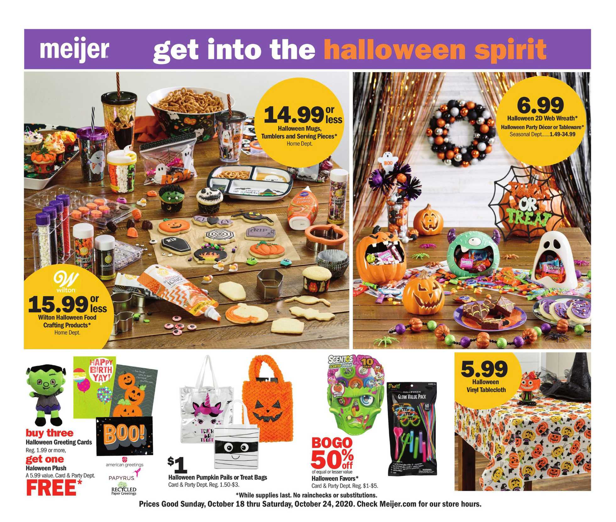 Meijer - deals are valid from 10/18/20 to 10/24/20 - page 1.
