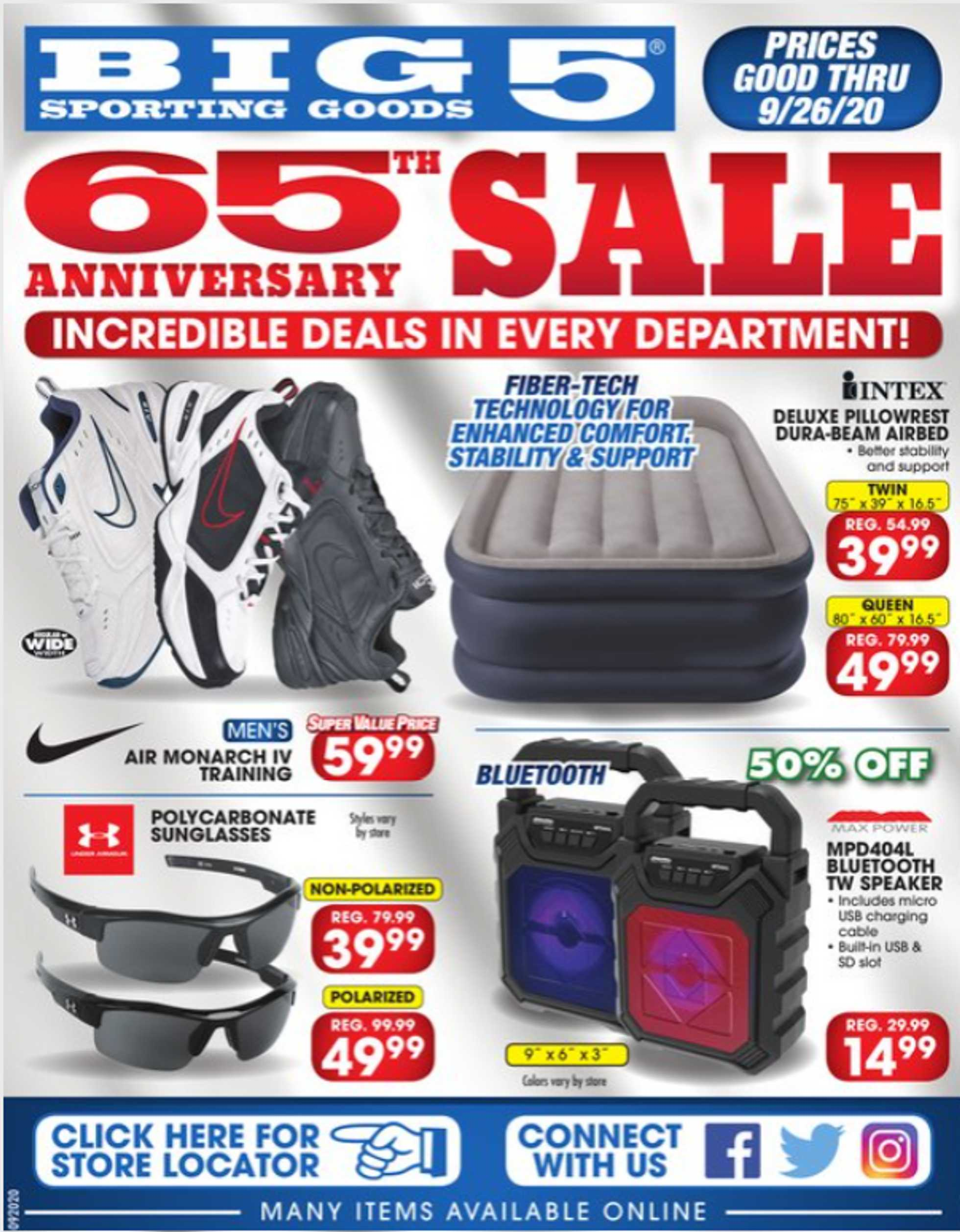 Big 5 Sporting Goods - deals are valid from 09/20/20 to 09/27/20 - page 1.