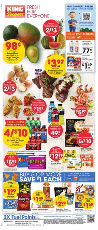 King Soopers - deals are valid from 05/12/21 to 05/18/21 - page 1.