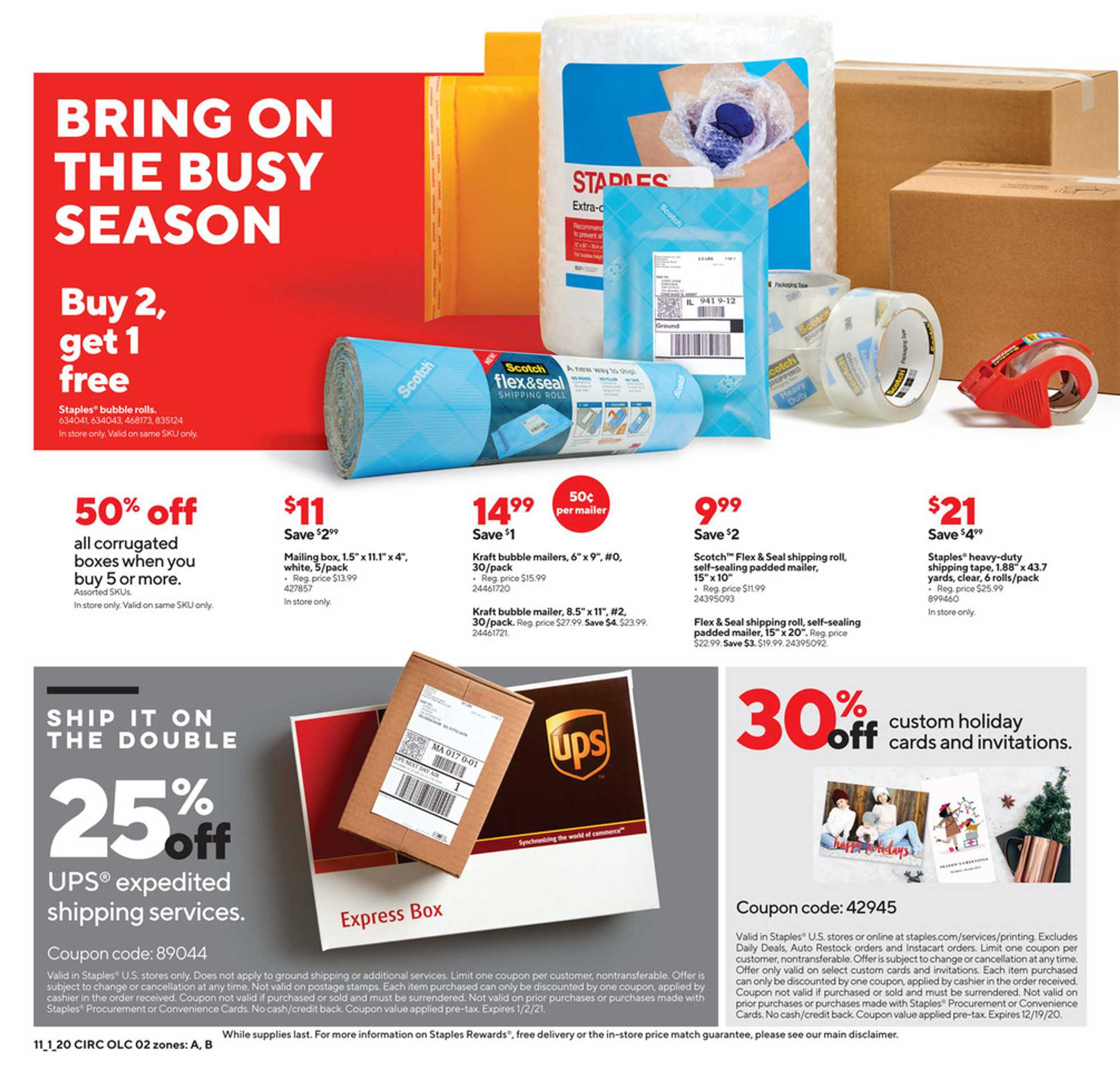 Staples - deals are valid from 11/01/20 to 11/07/20 - page 2.