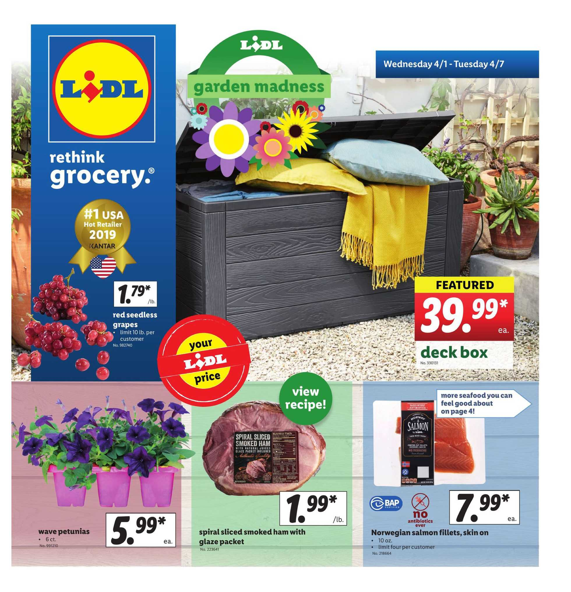 Lidl - deals are valid from 04/01/20 to 04/07/20 - page 1.