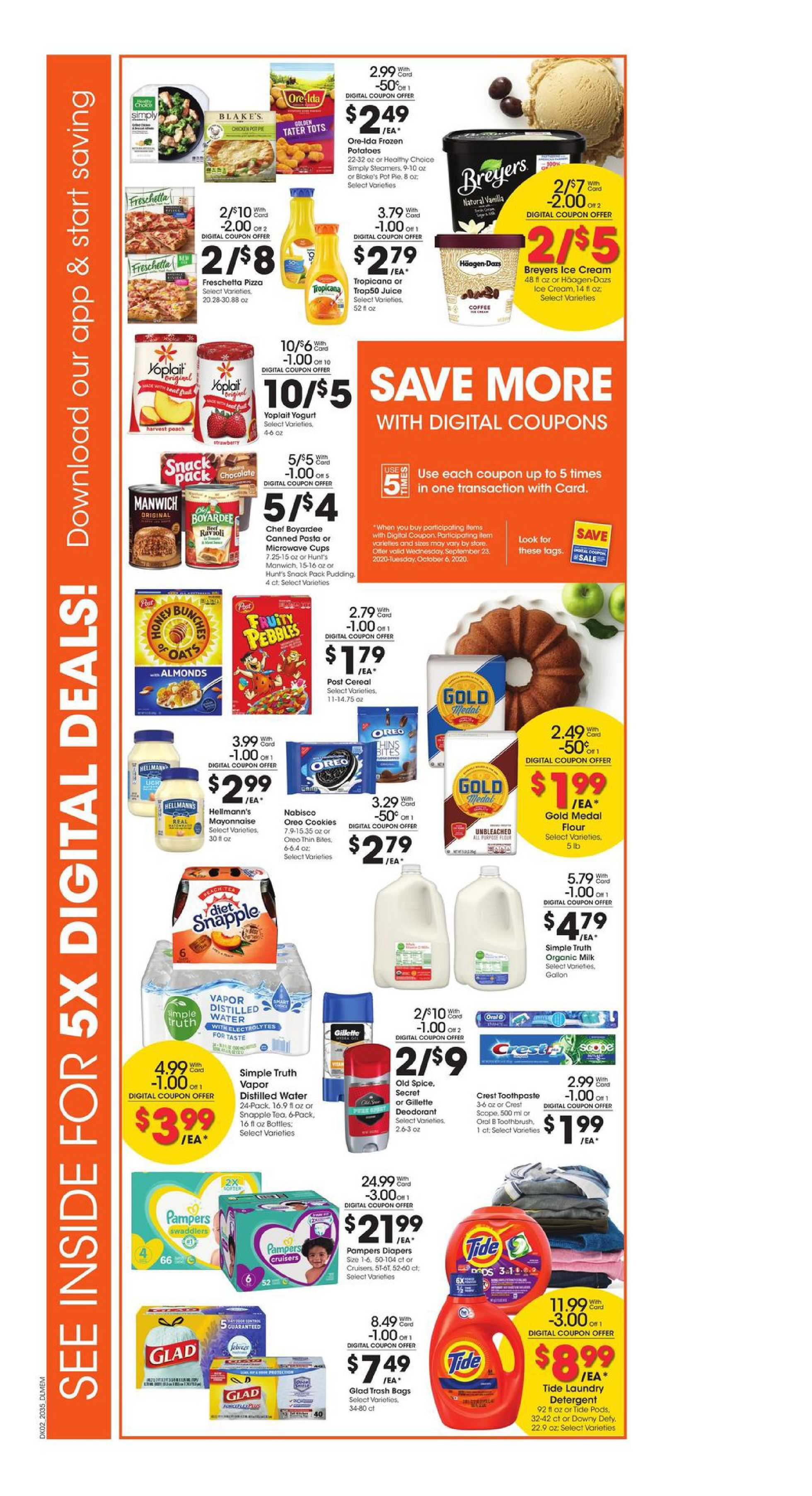 Kroger - deals are valid from 09/30/20 to 10/06/20 - page 3.