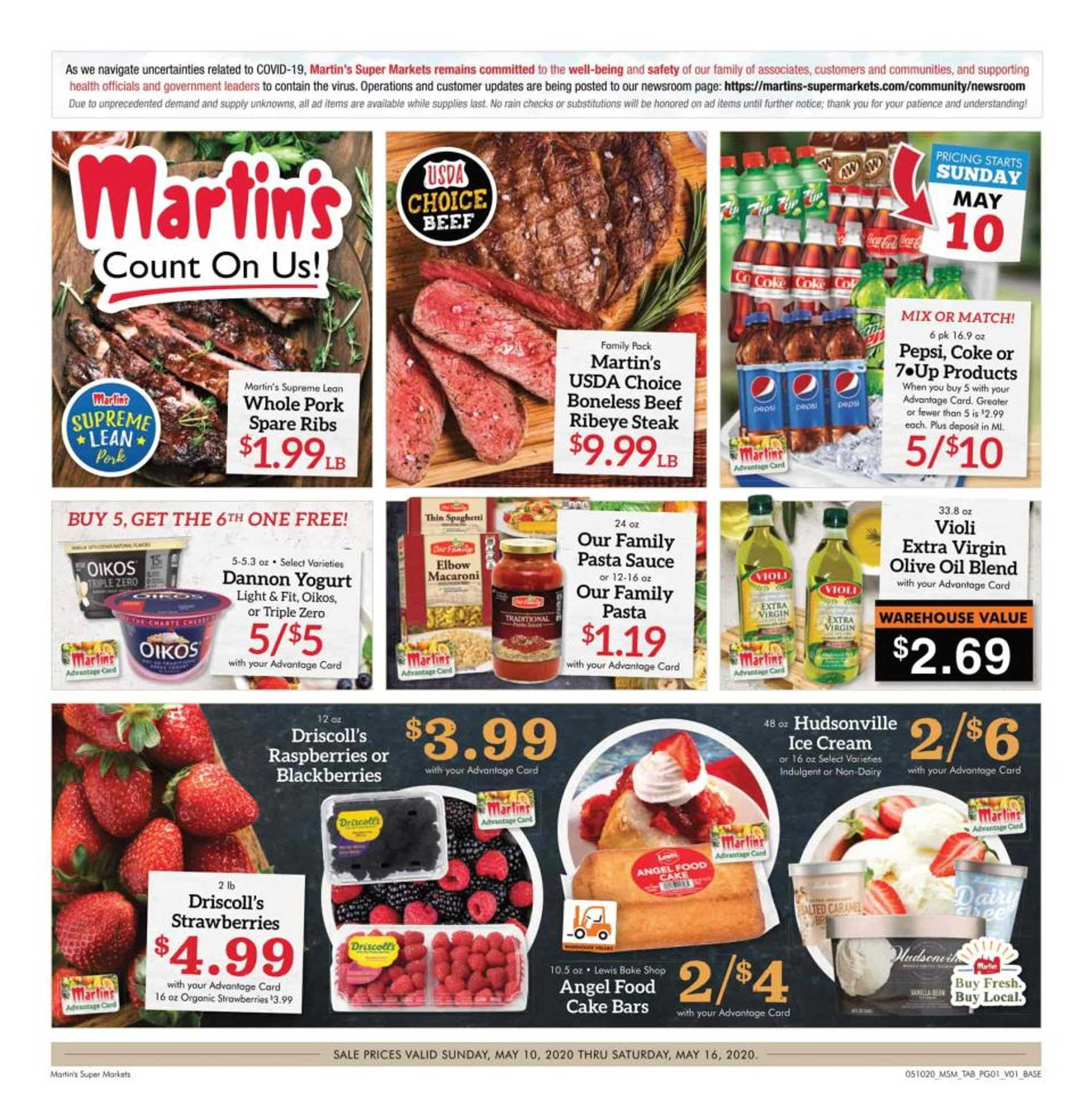 Martin's - deals are valid from 05/10/20 to 05/16/20 - page 1.