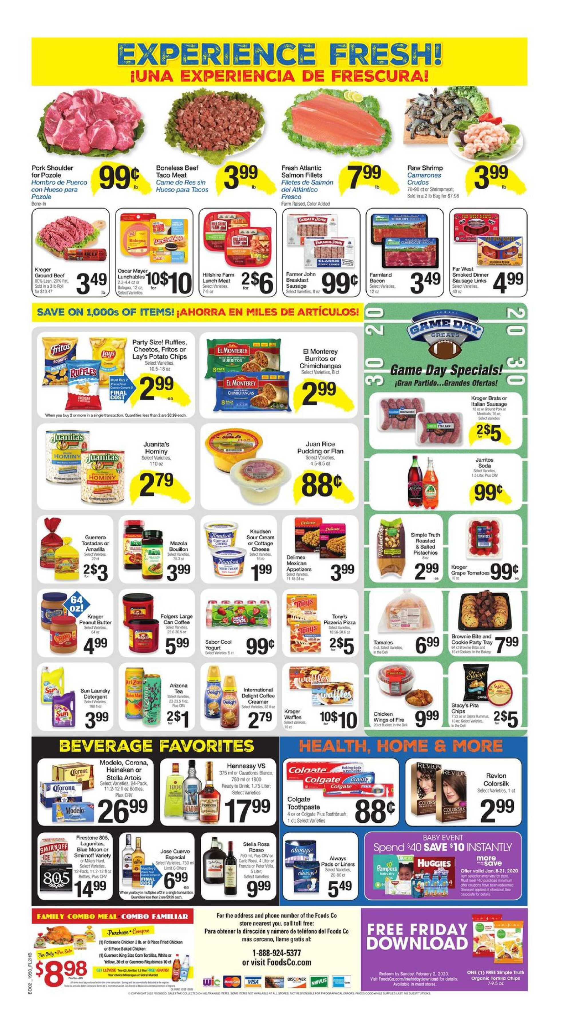 Foods Co. - promo starting from 01/15/20 to 01/21/20 - page 2. The promotion includes potato, potato, tostadas, rossi, tostadas, rossi