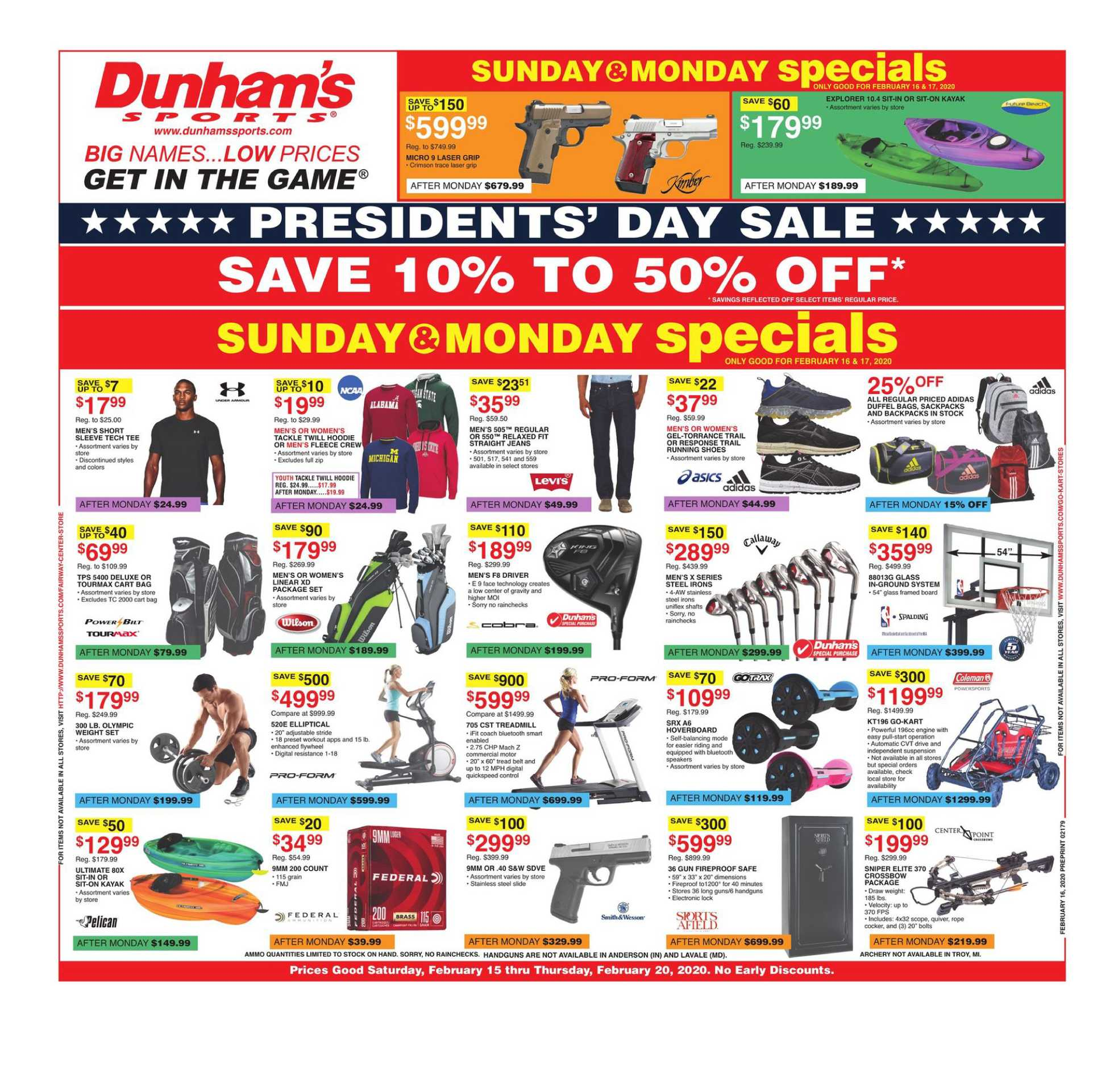 Dunham's Sports - deals are valid from 02/15/20 to 02/20/20 - page 1.