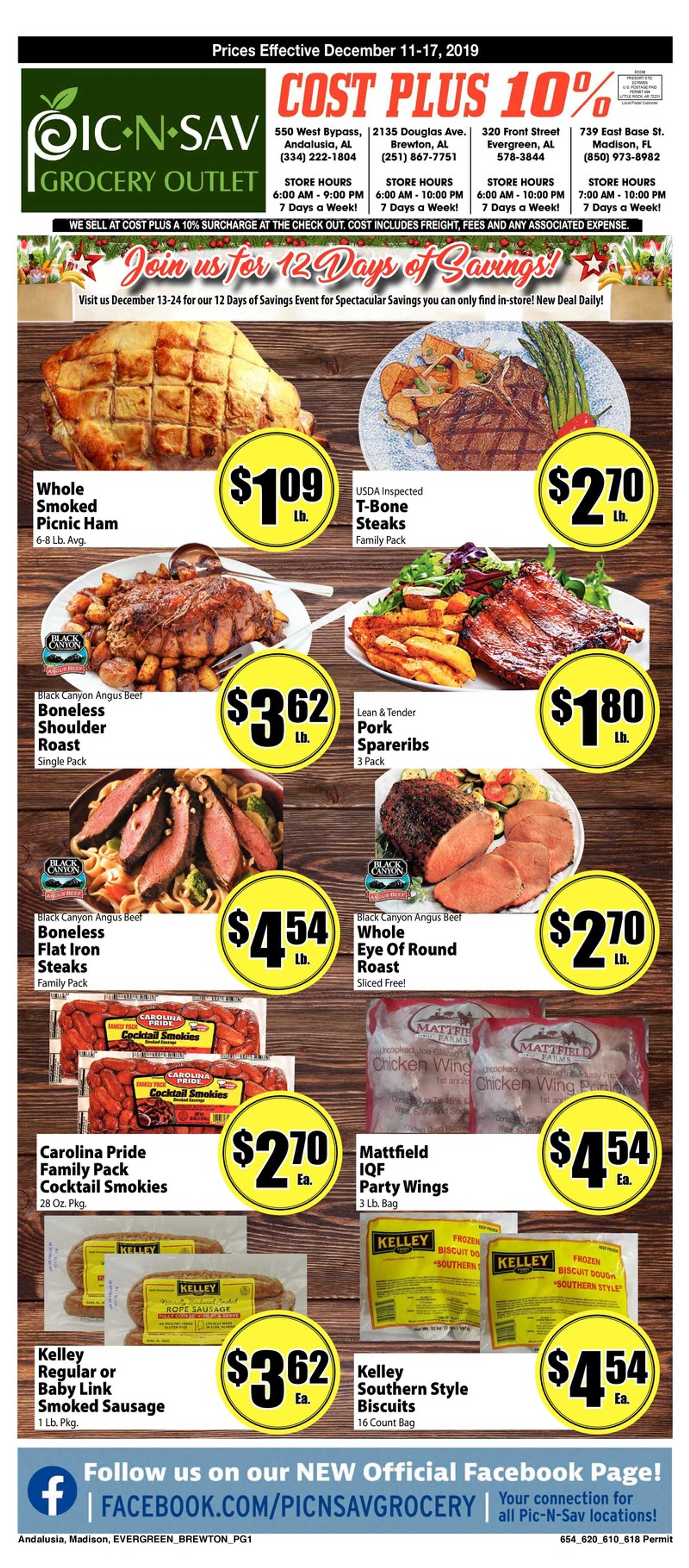 Pic N Sav - deals are valid from 12/11/19 to 12/17/19 - page 1.