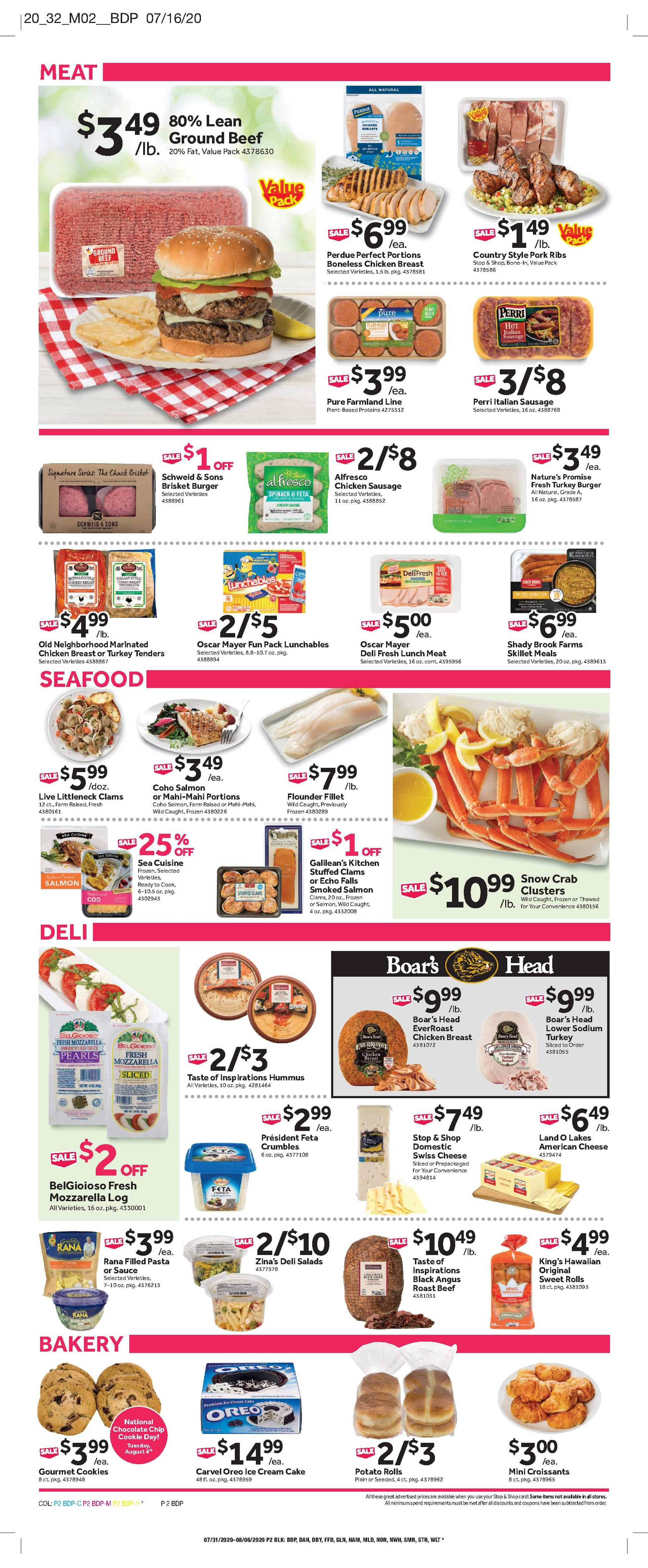 Stop & Shop - deals are valid from 07/31/20 to 08/06/20 - page 4.