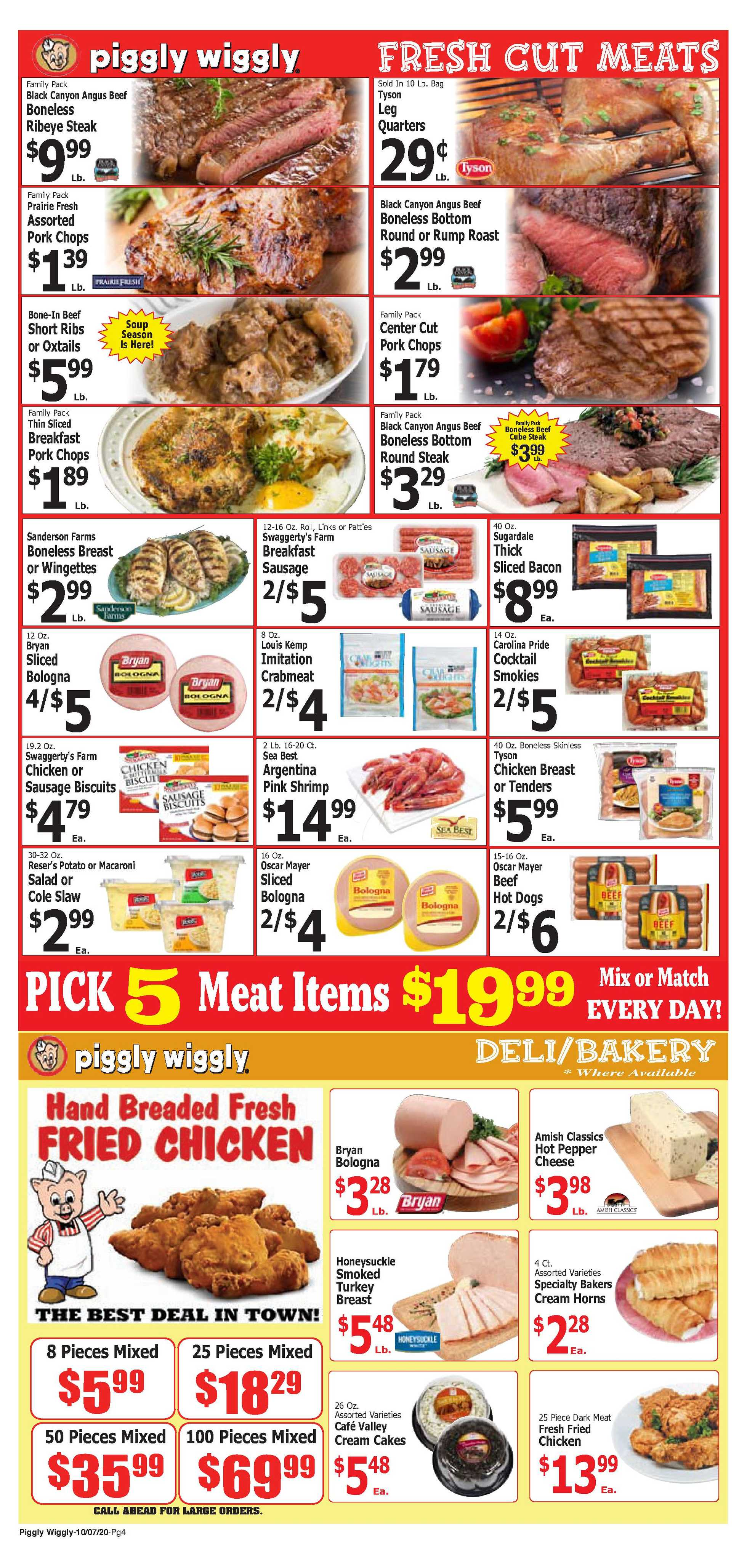 Piggly Wiggly - deals are valid from 10/07/20 to 10/13/20 - page 4.