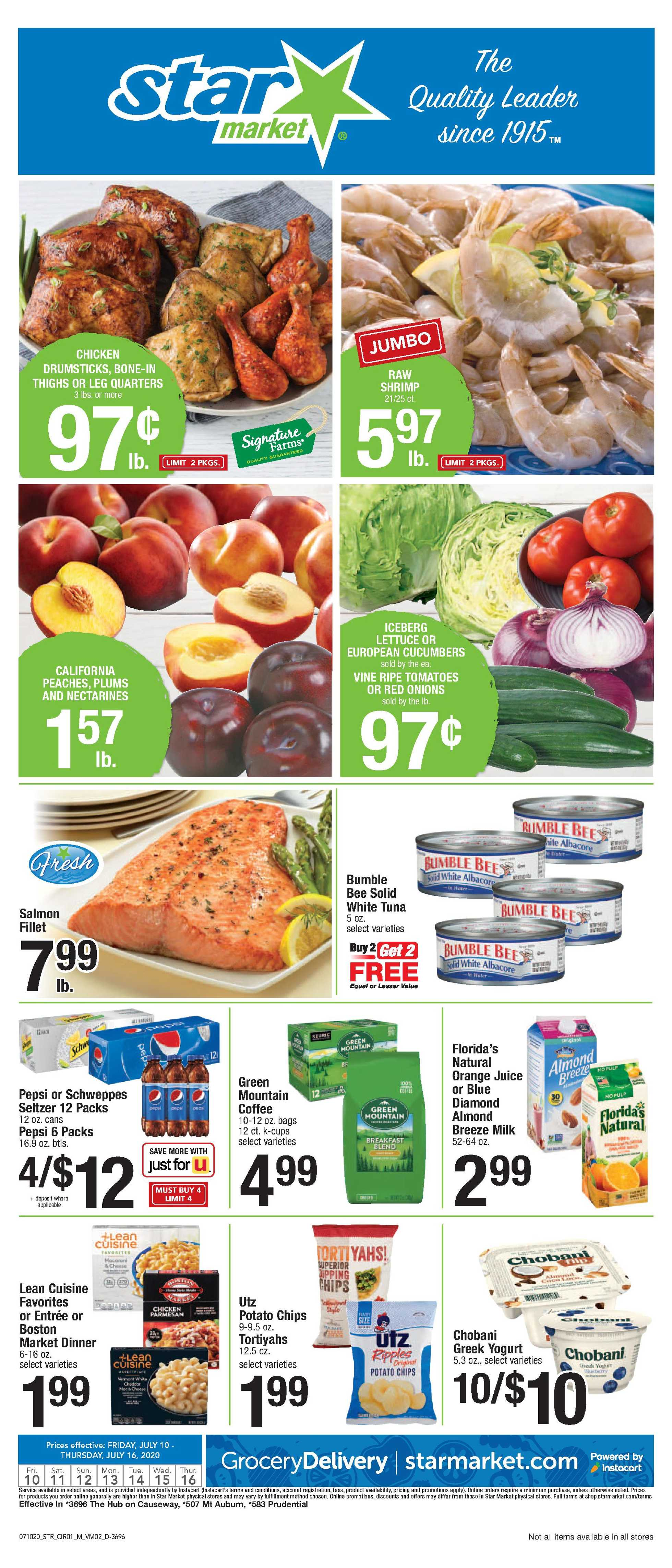 Star Market - deals are valid from 07/10/20 to 07/16/20 - page 1.