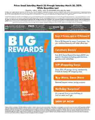 Big Lots - deals are valid from 03/23/19 to 03/30/19 - page 28.