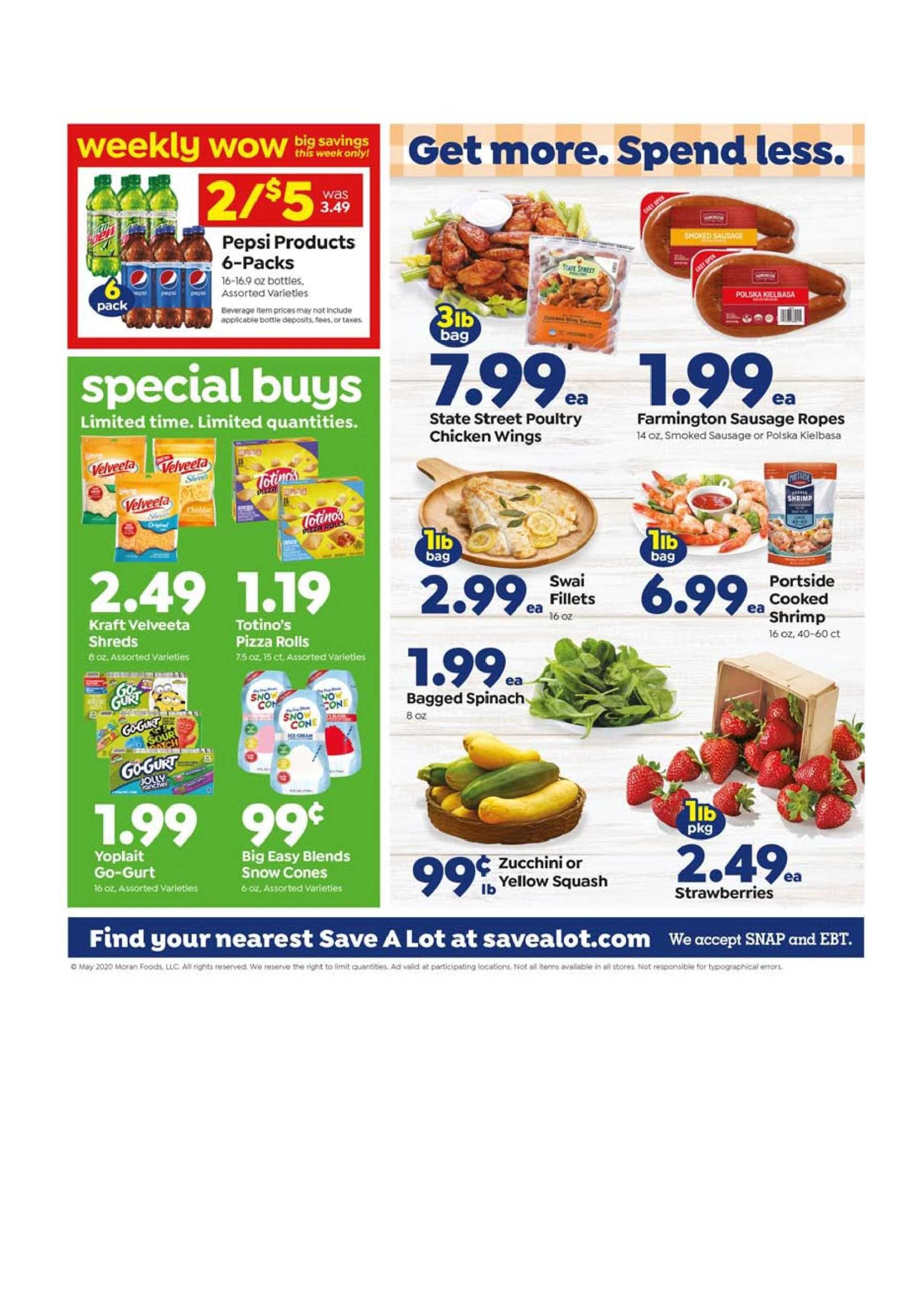 Save-A-Lot - deals are valid from 05/27/20 to 06/02/20 - page 3.