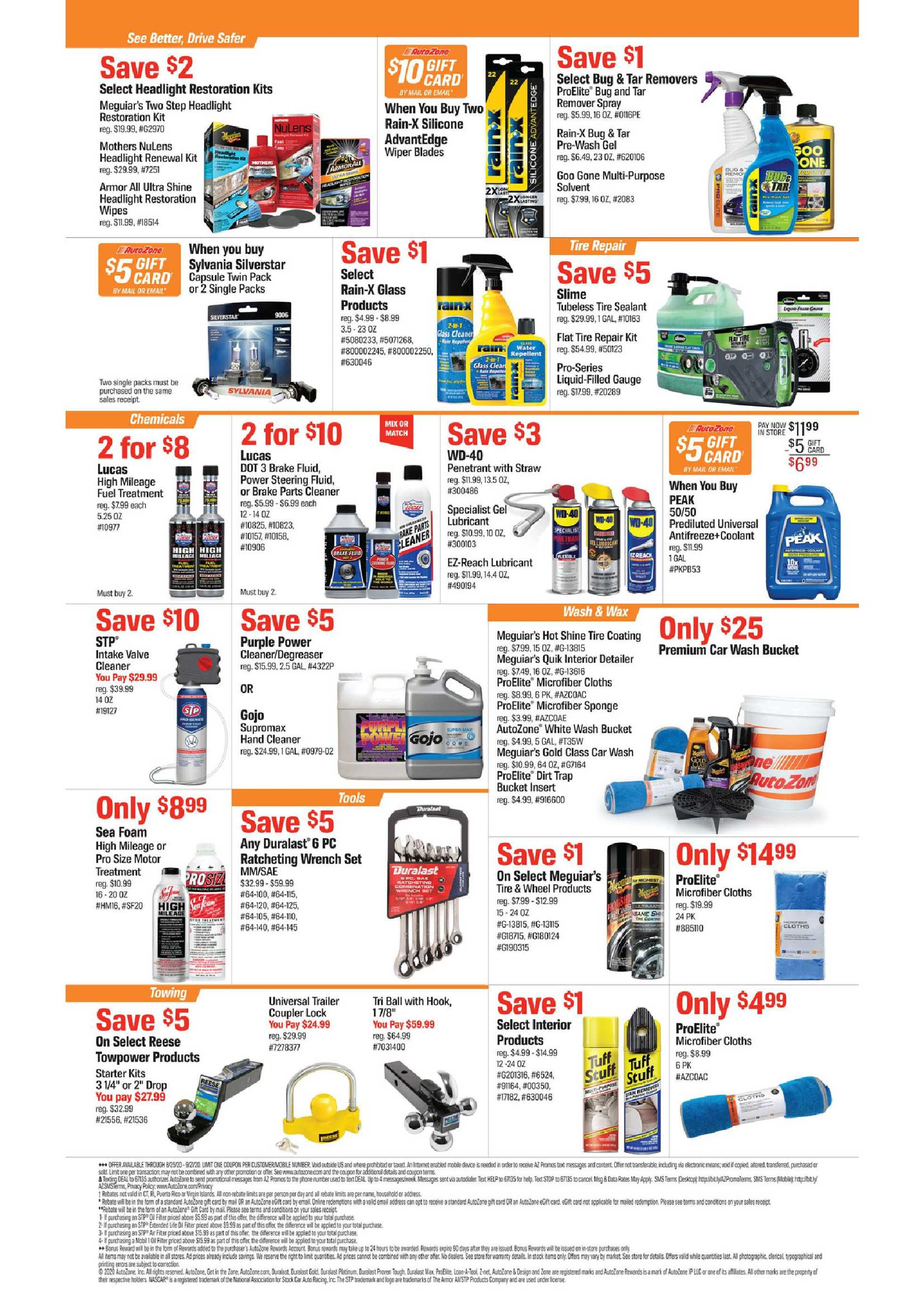 AutoZone - deals are valid from 08/25/20 to 09/21/20 - page 2.