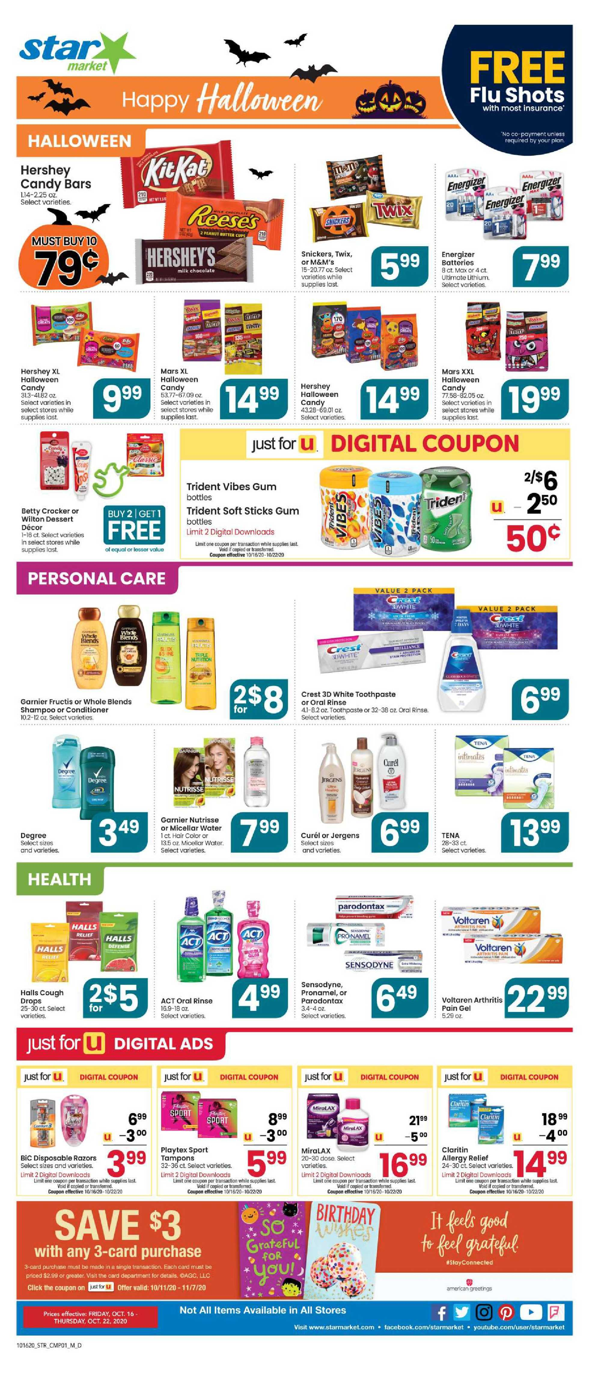 Star Market - deals are valid from 10/16/20 to 10/22/20 - page 4.