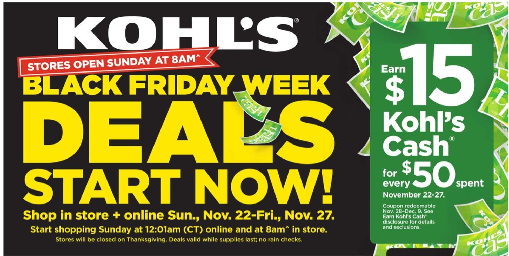 Kohl's - deals are valid from 11/22/20 to 11/27/20 - page 1.