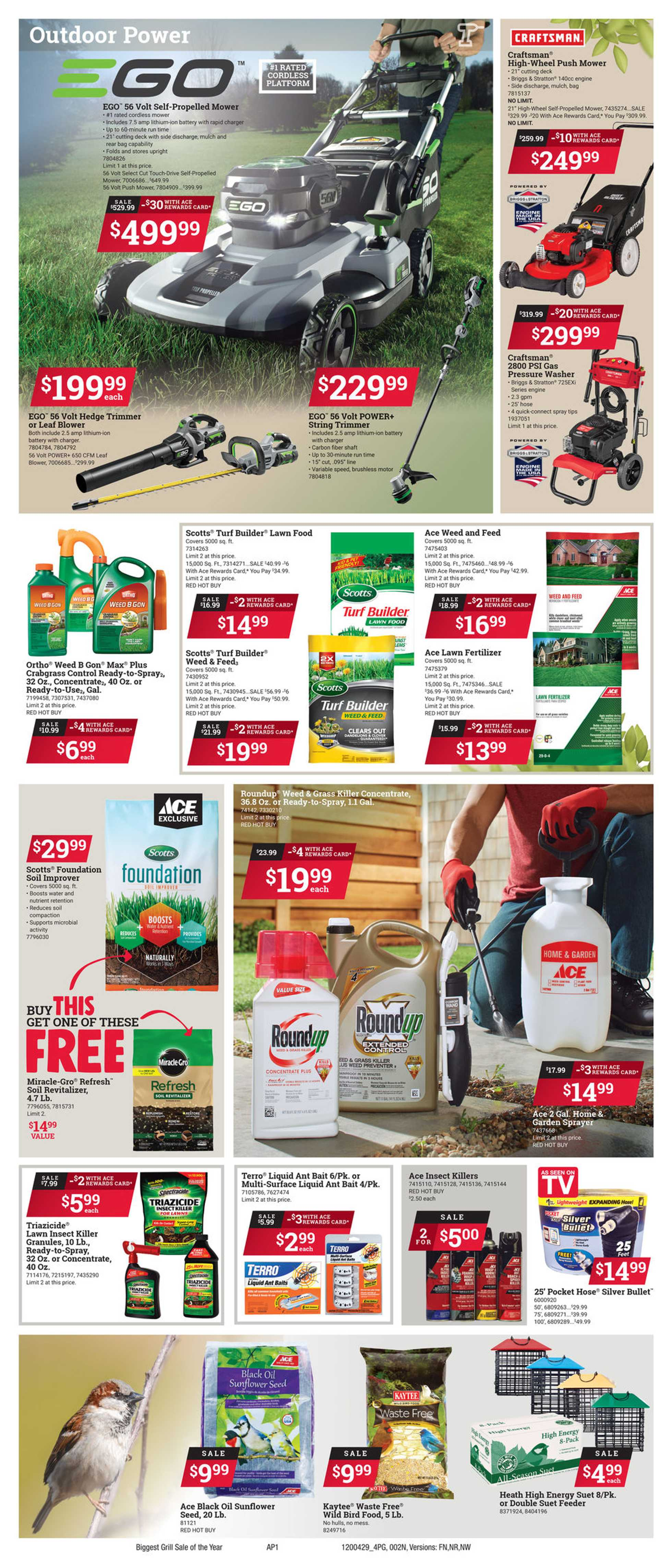 ACE Hardware - deals are valid from 04/29/20 to 05/11/20 - page 2.