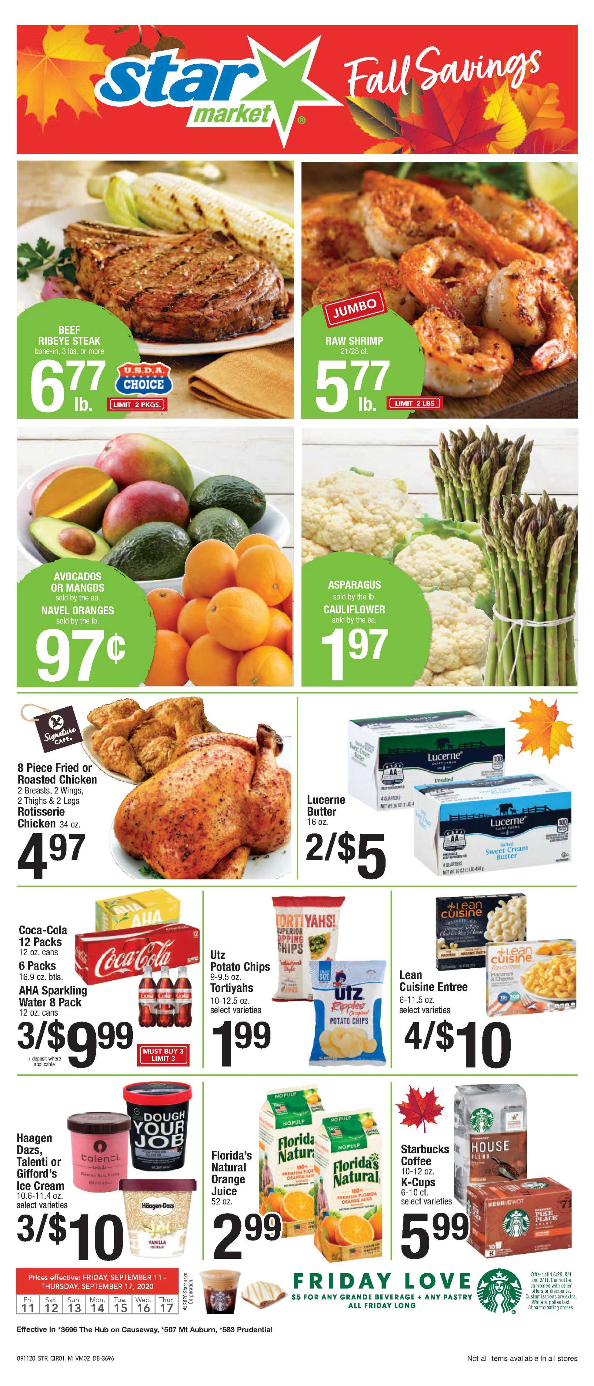 Star Market - deals are valid from 09/11/20 to 09/17/20 - page 1.