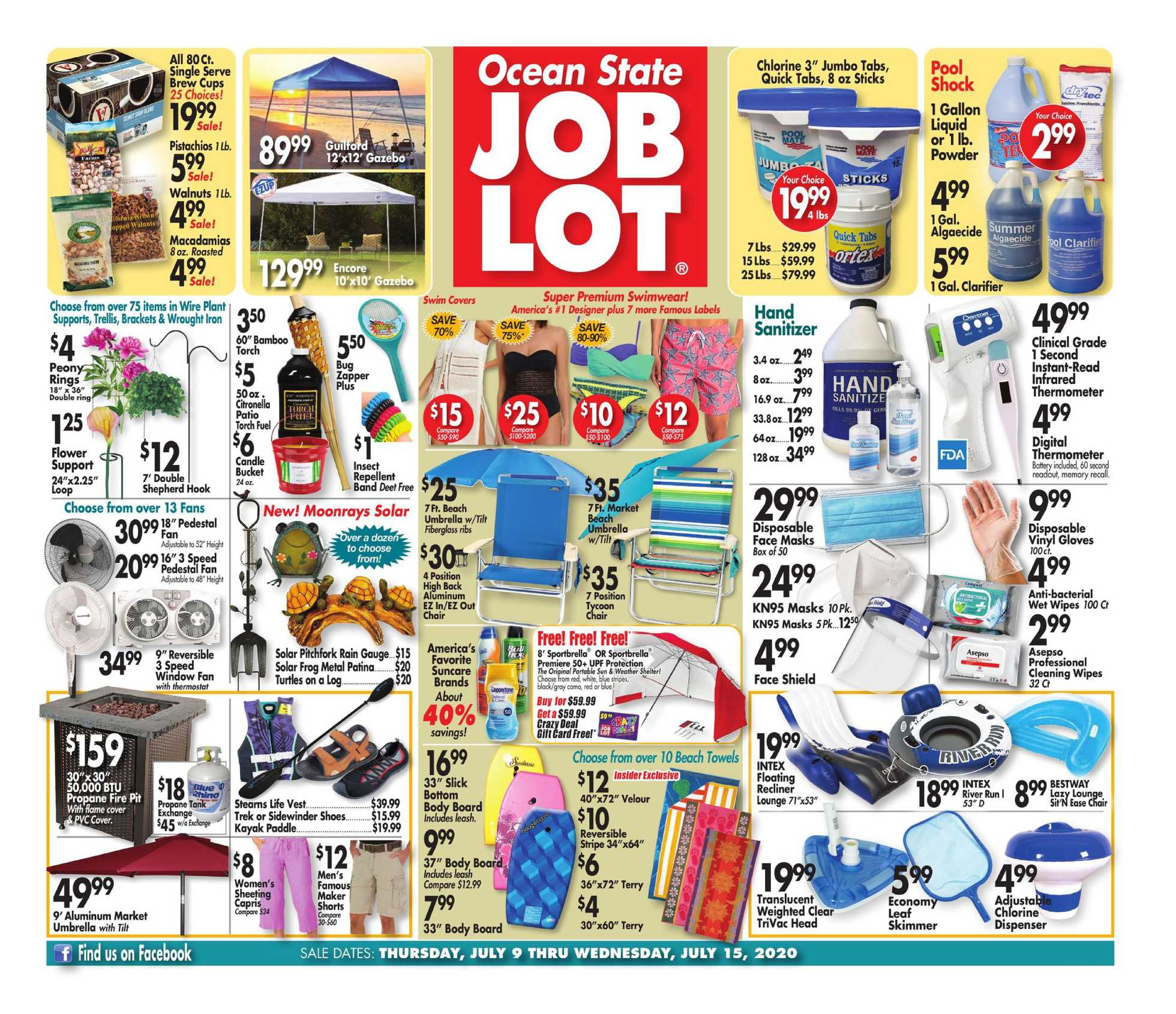 Ocean State Job Lot - deals are valid from 07/09/20 to 07/15/20 - page 1.