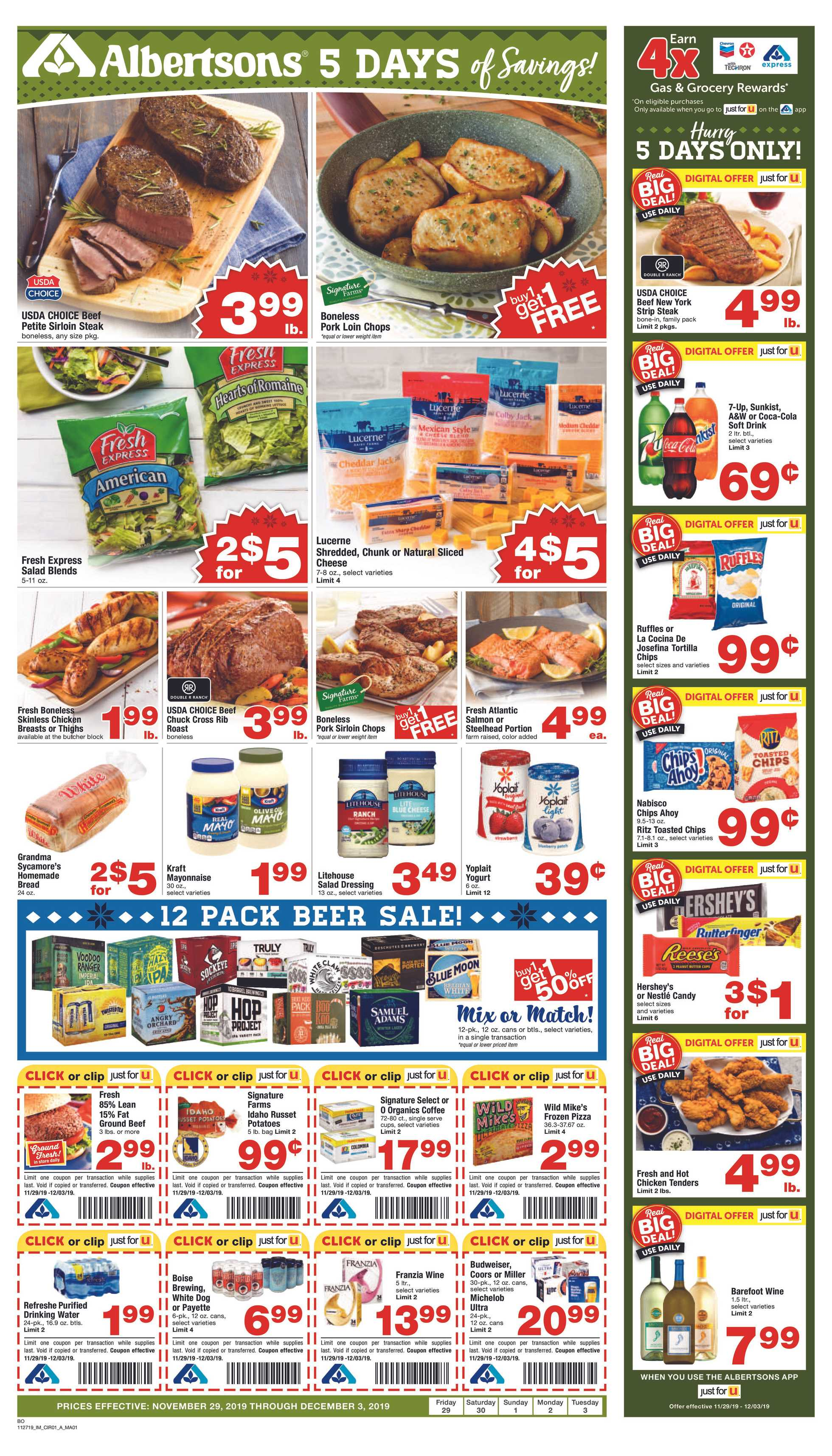 Albertsons - deals are valid from 11/29/19 to 12/03/19 - page 3.