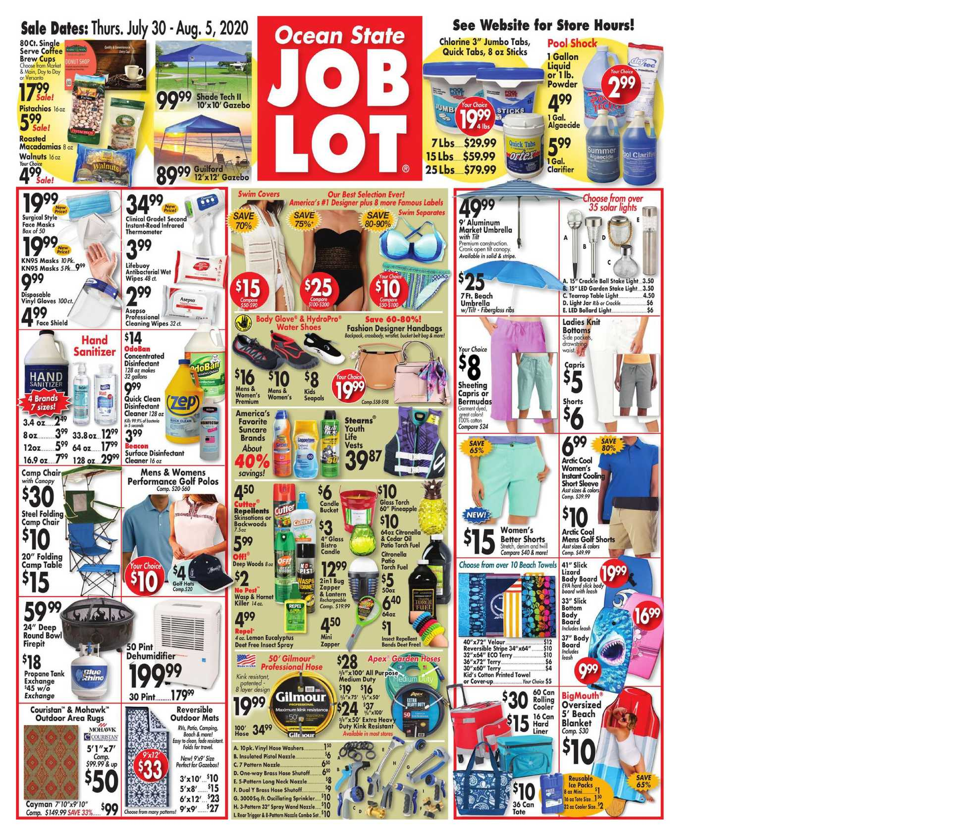 Ocean State Job Lot - deals are valid from 07/30/20 to 08/05/20 - page 1.