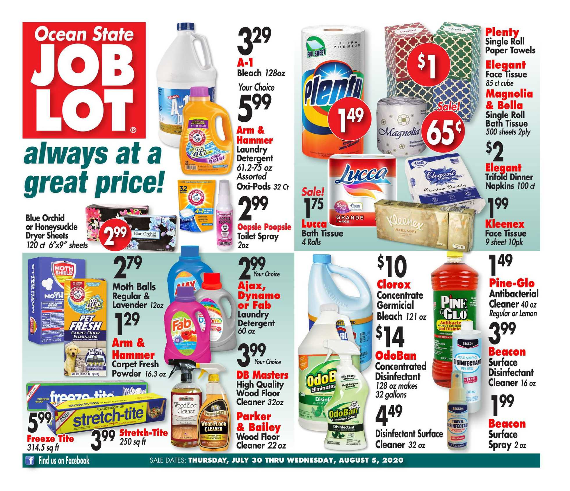 Ocean State Job Lot - deals are valid from 07/30/20 to 08/05/20 - page 3.