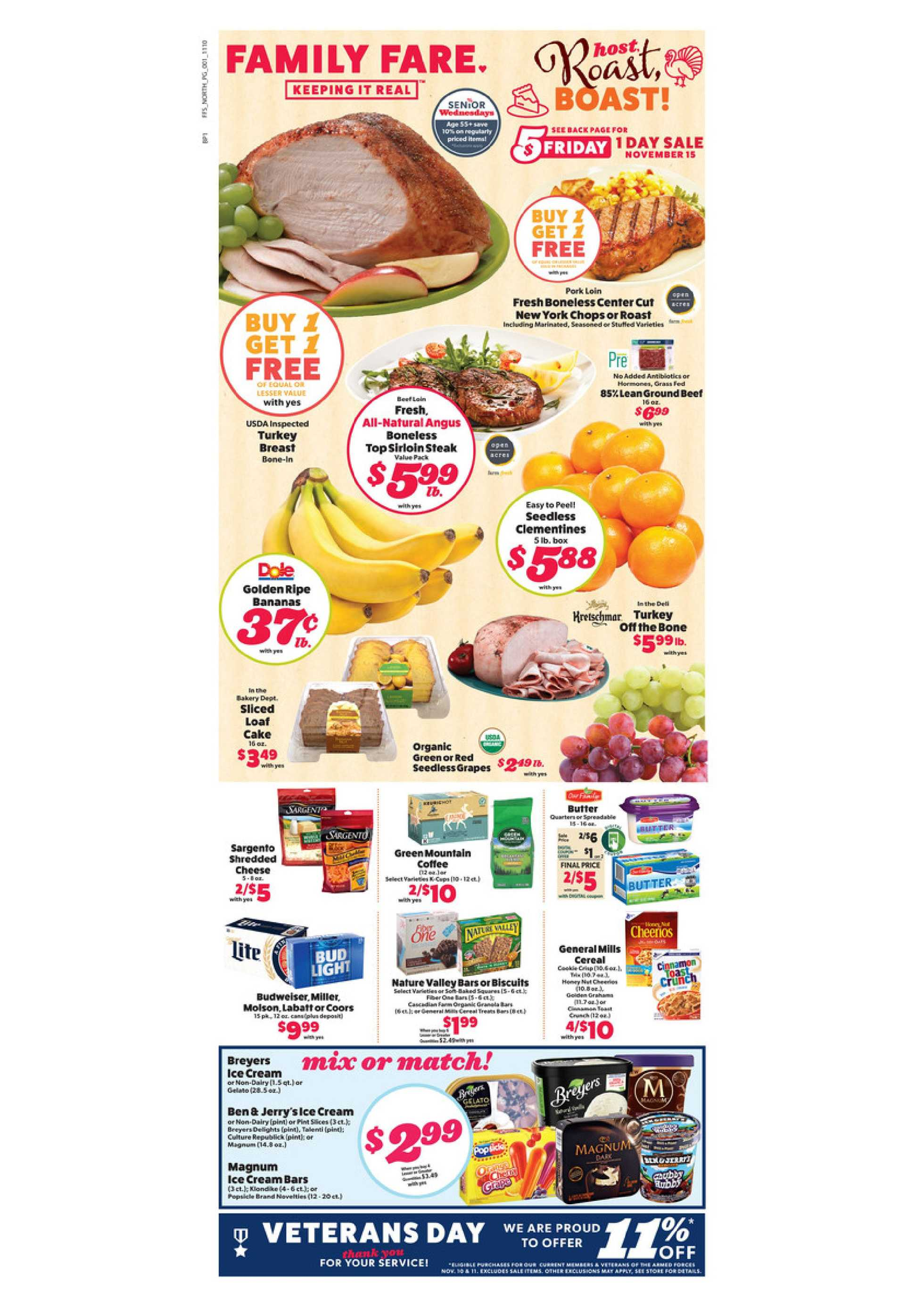 Family Fare - deals are valid from 11/10/19 to 11/16/19 - page 1.