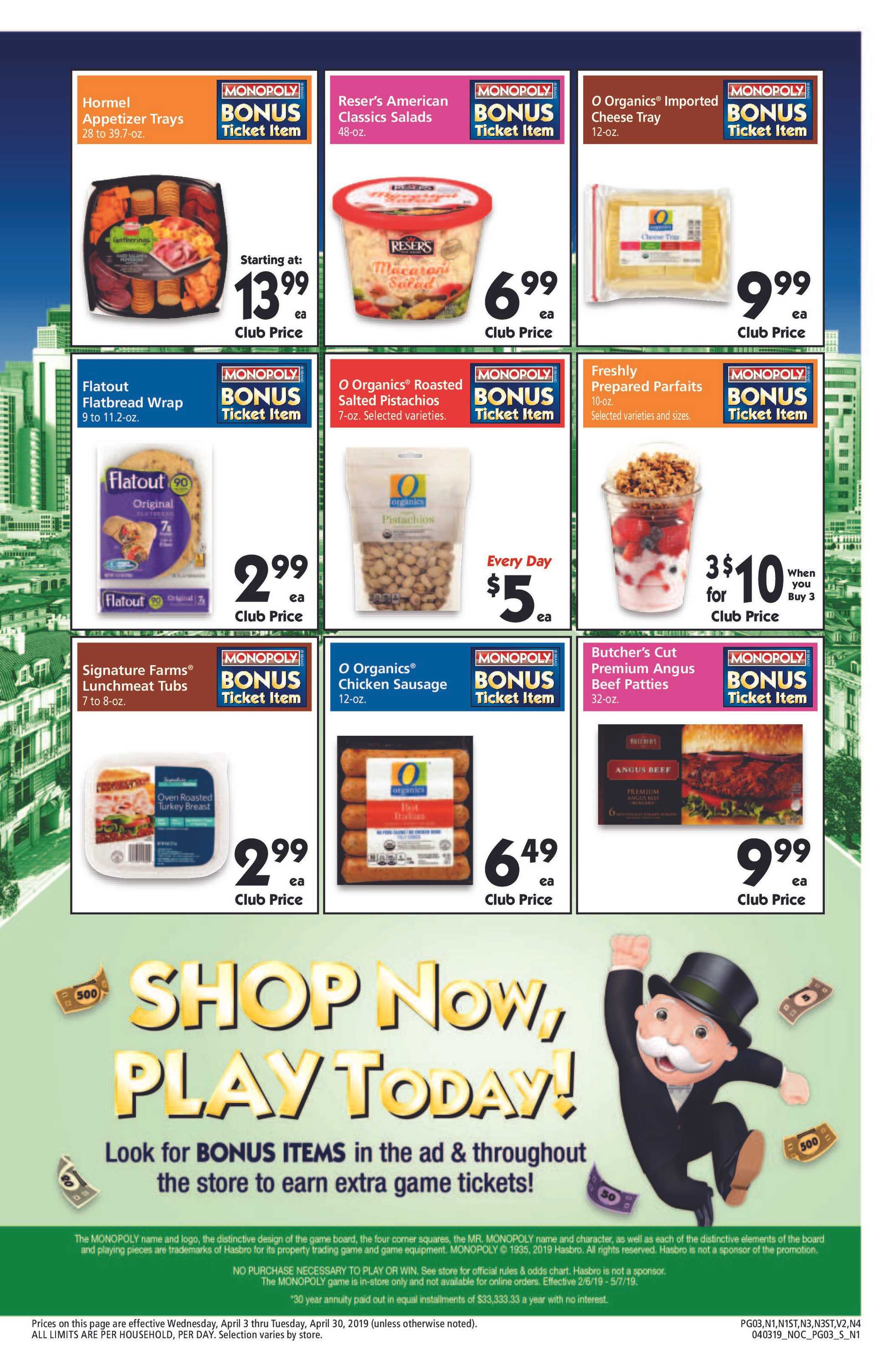 Safeway - deals are valid from 04/03/19 to 04/30/19 - page 3.