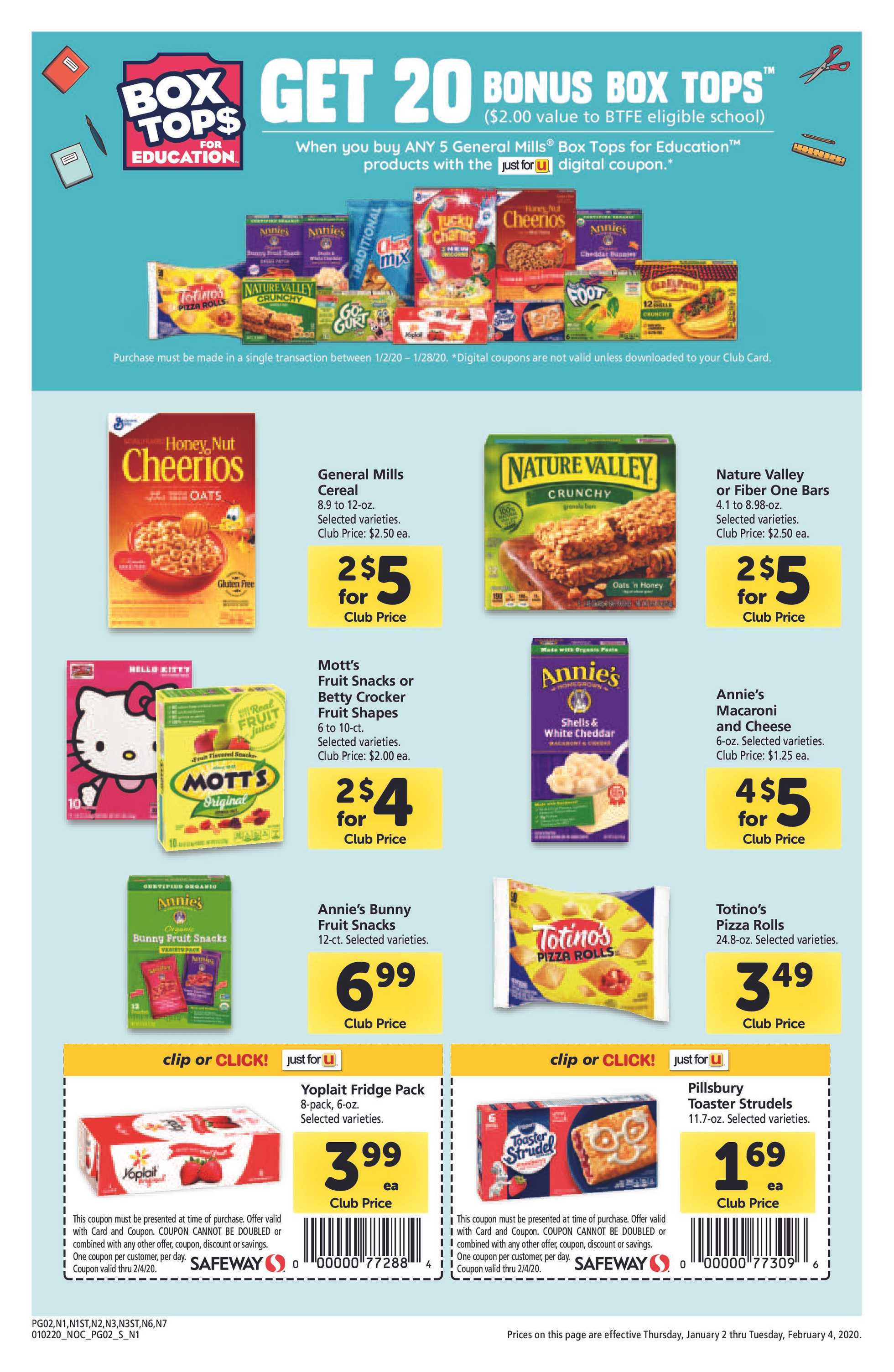 Safeway - deals are valid from 01/02/20 to 02/04/20 - page 2.