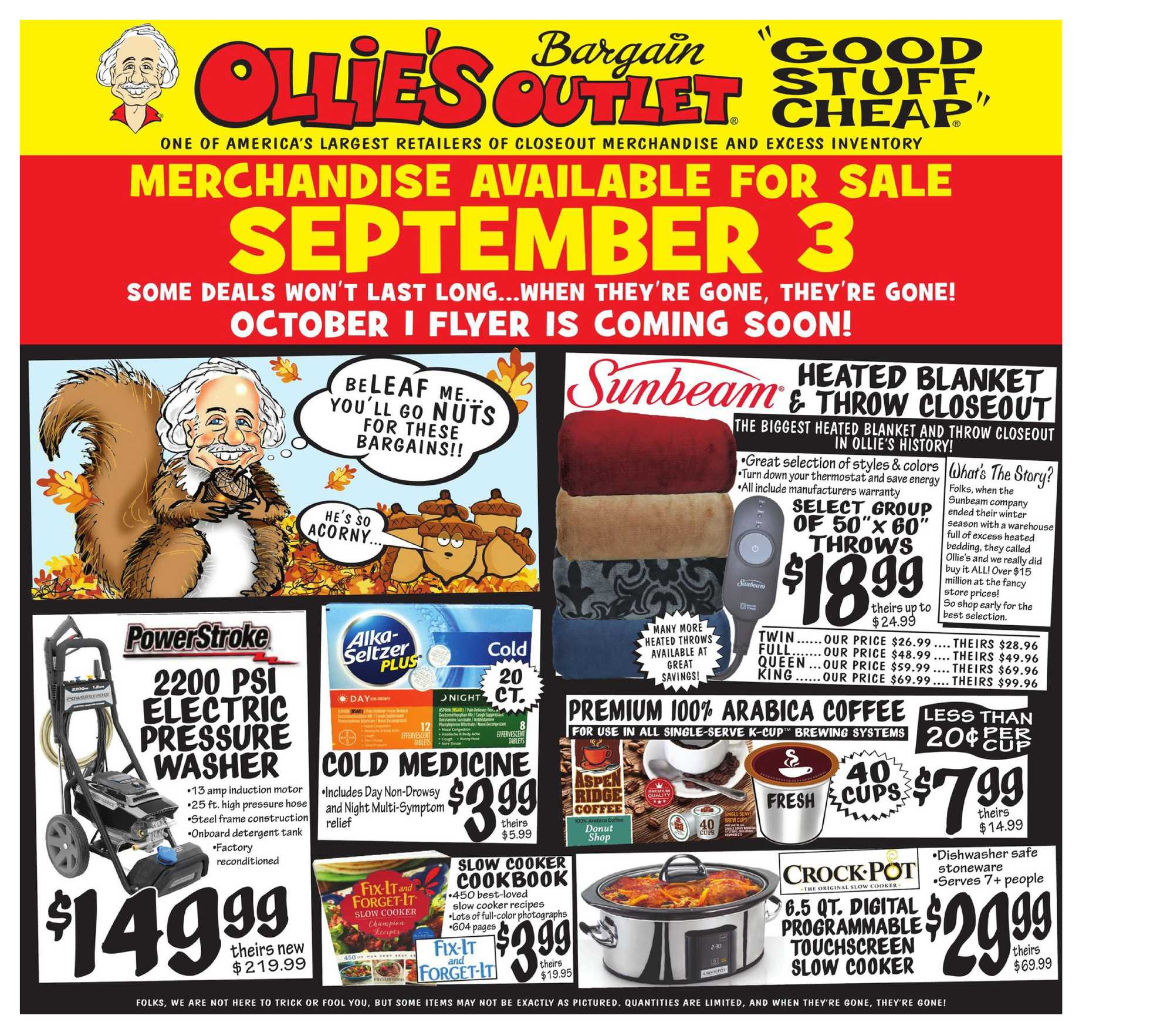Ollie's Bargain Outlet - deals are valid from 09/03/20 to 09/09/20 - page 1.