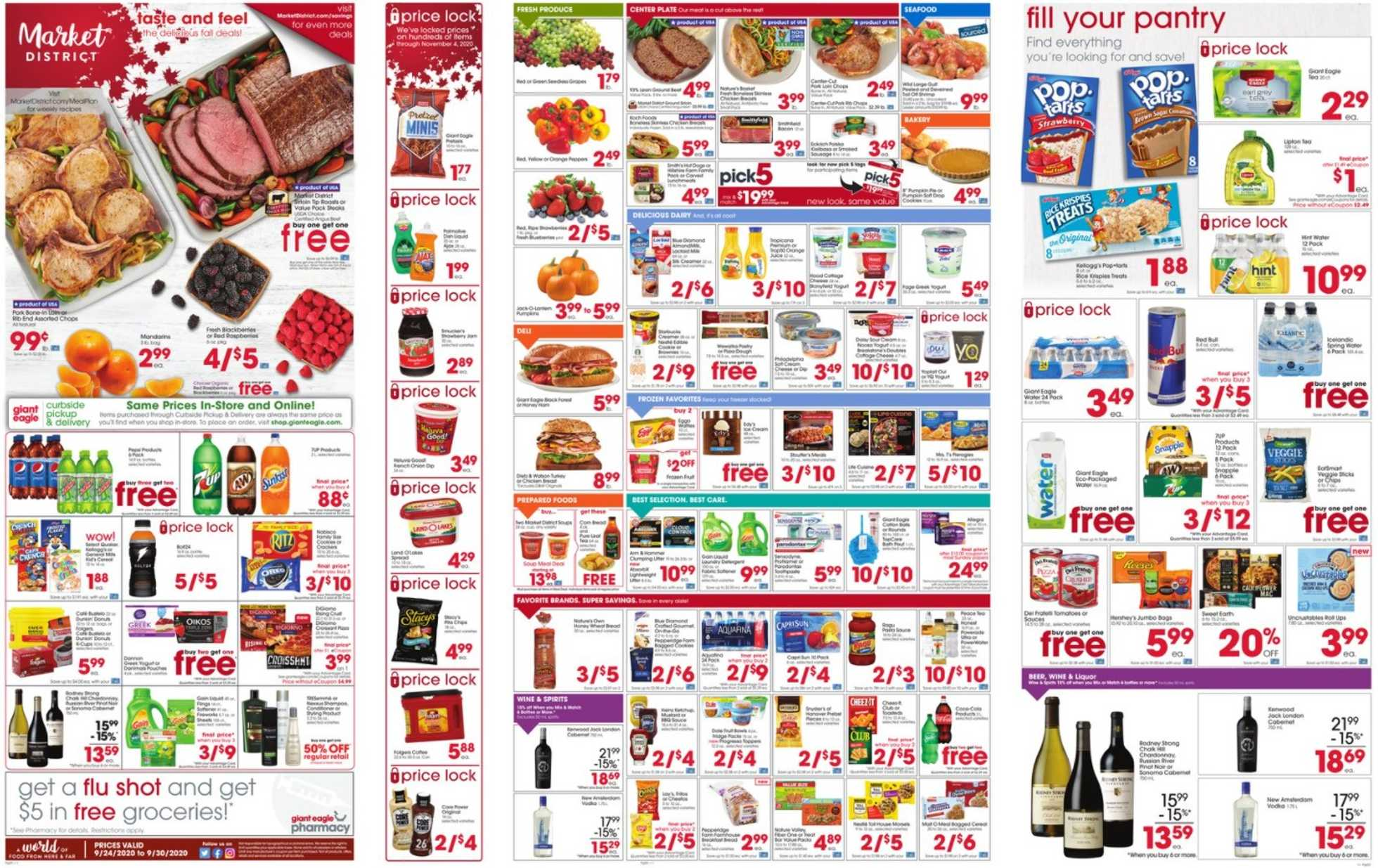 Market District - deals are valid from 09/24/20 to 09/30/20 - page 1.