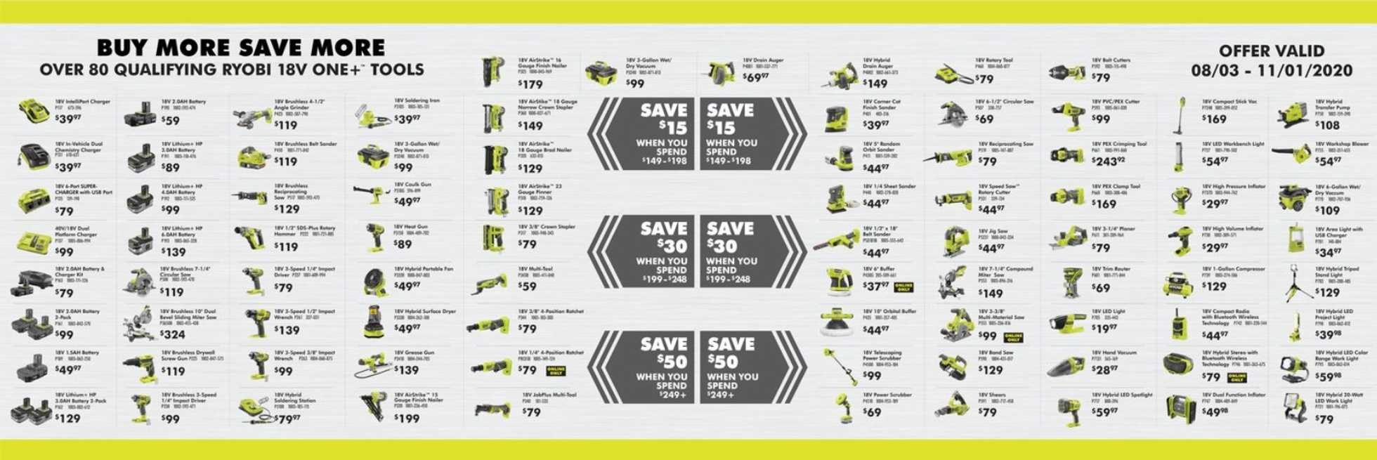 The Home Depot - deals are valid from 10/01/20 to 11/01/20 - page 3.