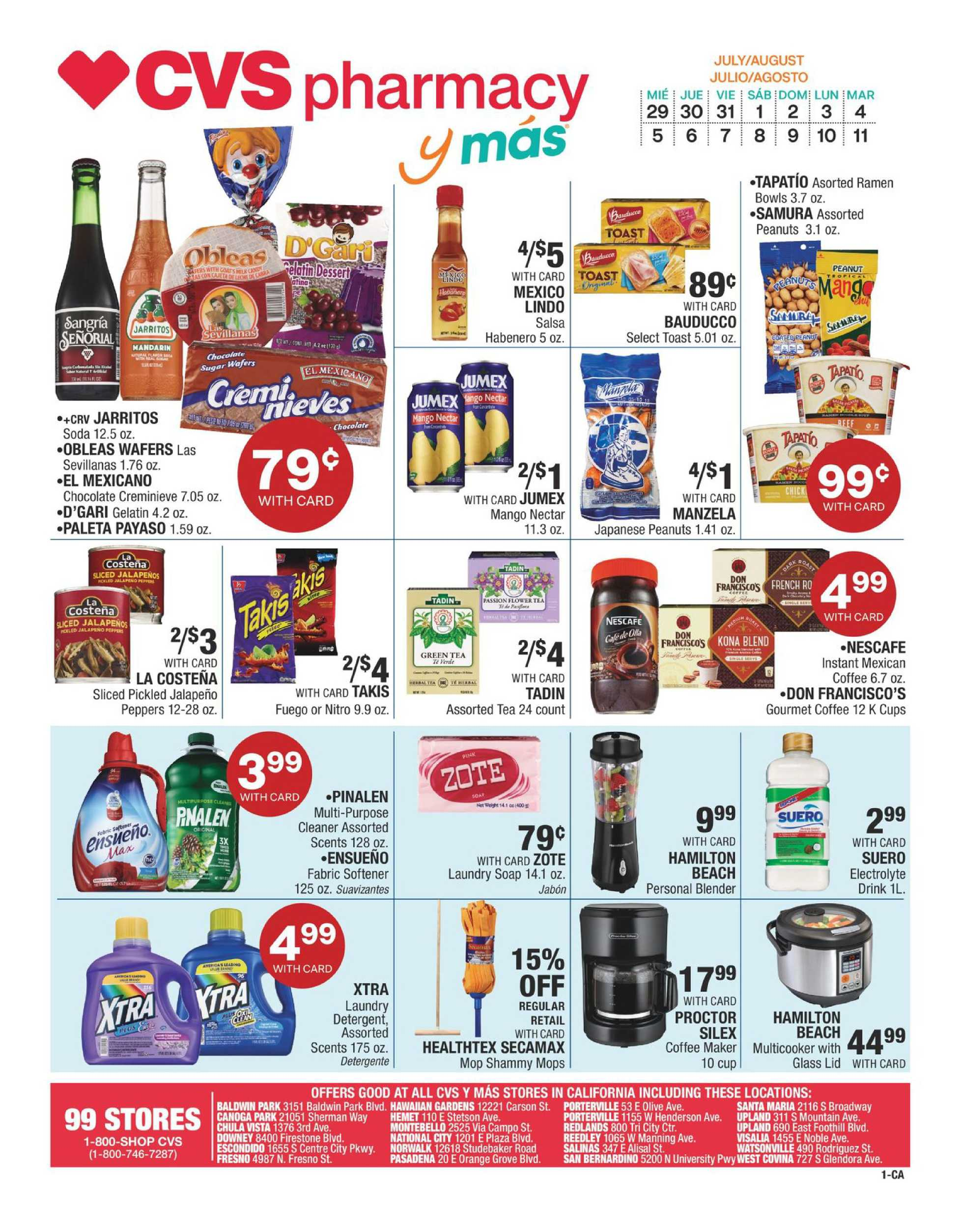 CVS - deals are valid from 07/29/20 to 08/11/20 - page 1.