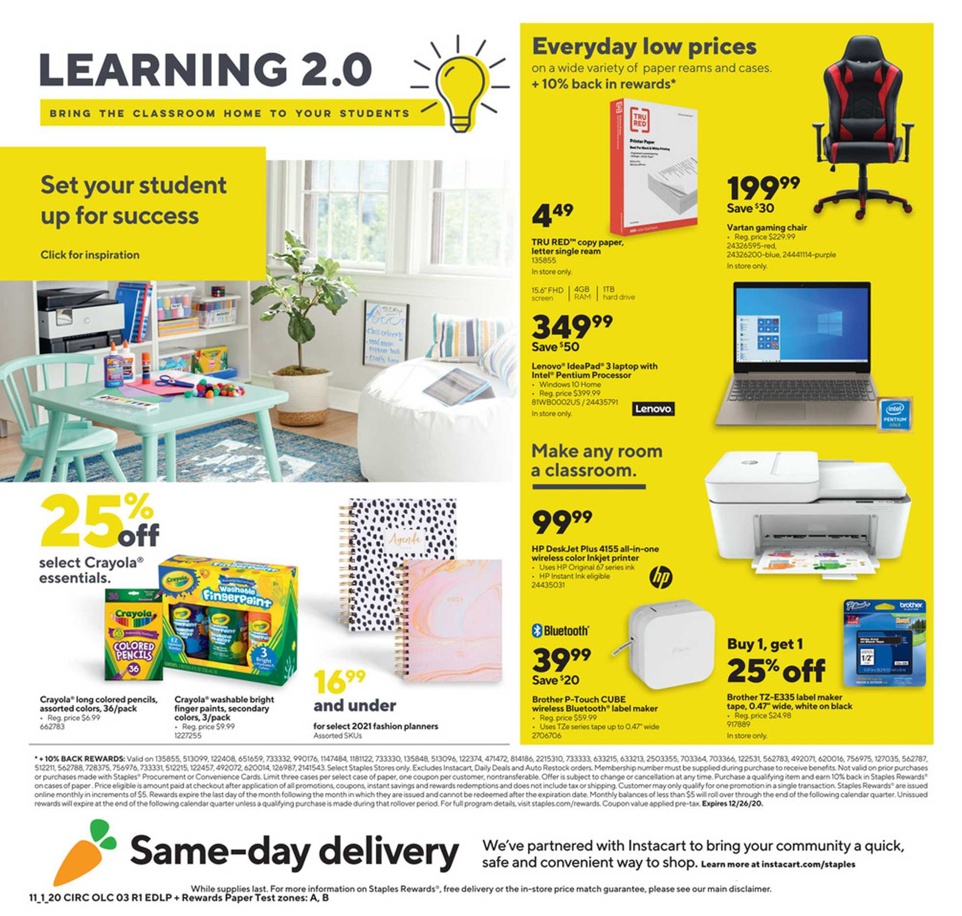 Staples - deals are valid from 11/01/20 to 11/07/20 - page 3.