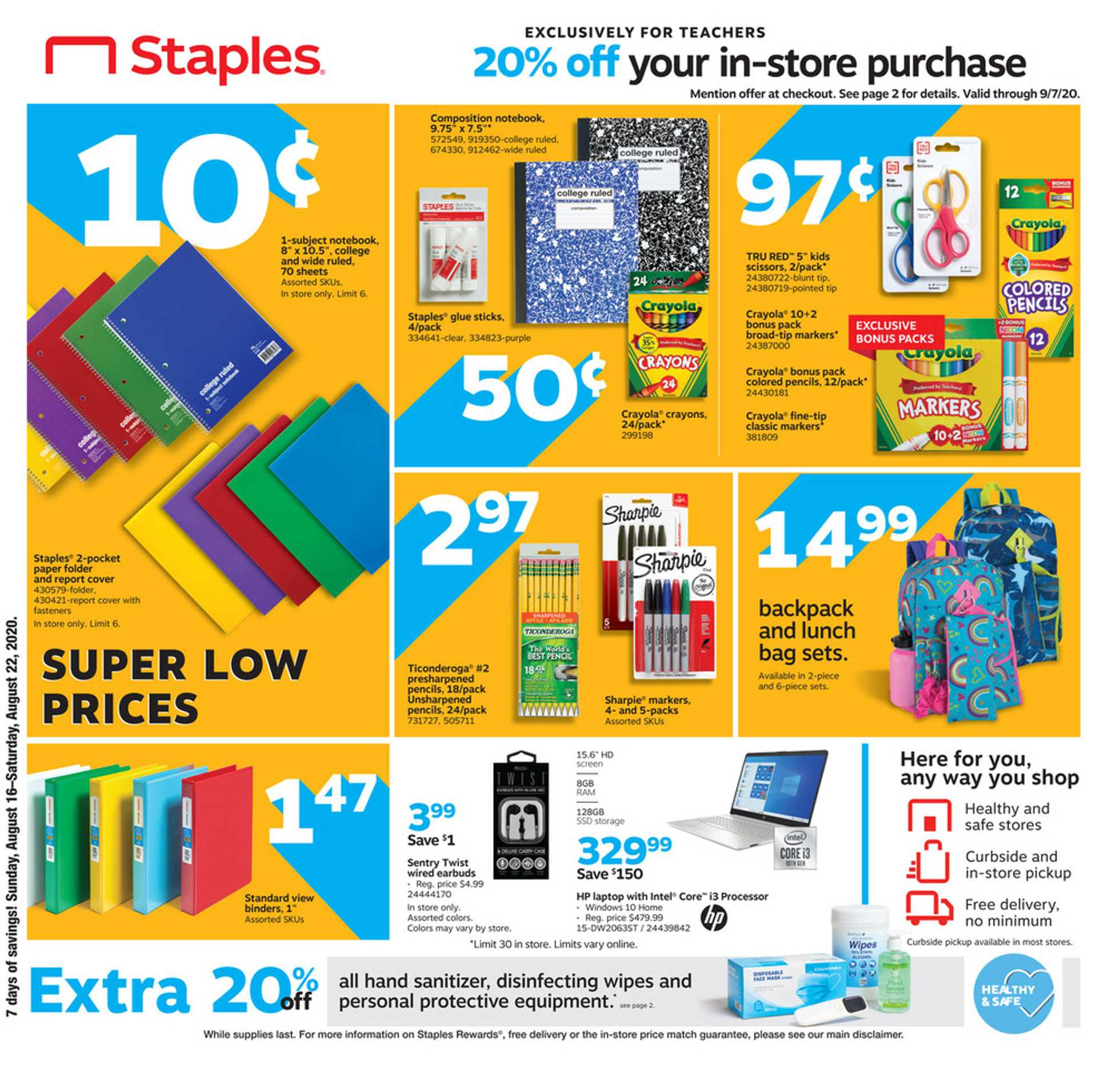 Staples - deals are valid from 08/16/20 to 08/22/20 - page 2.