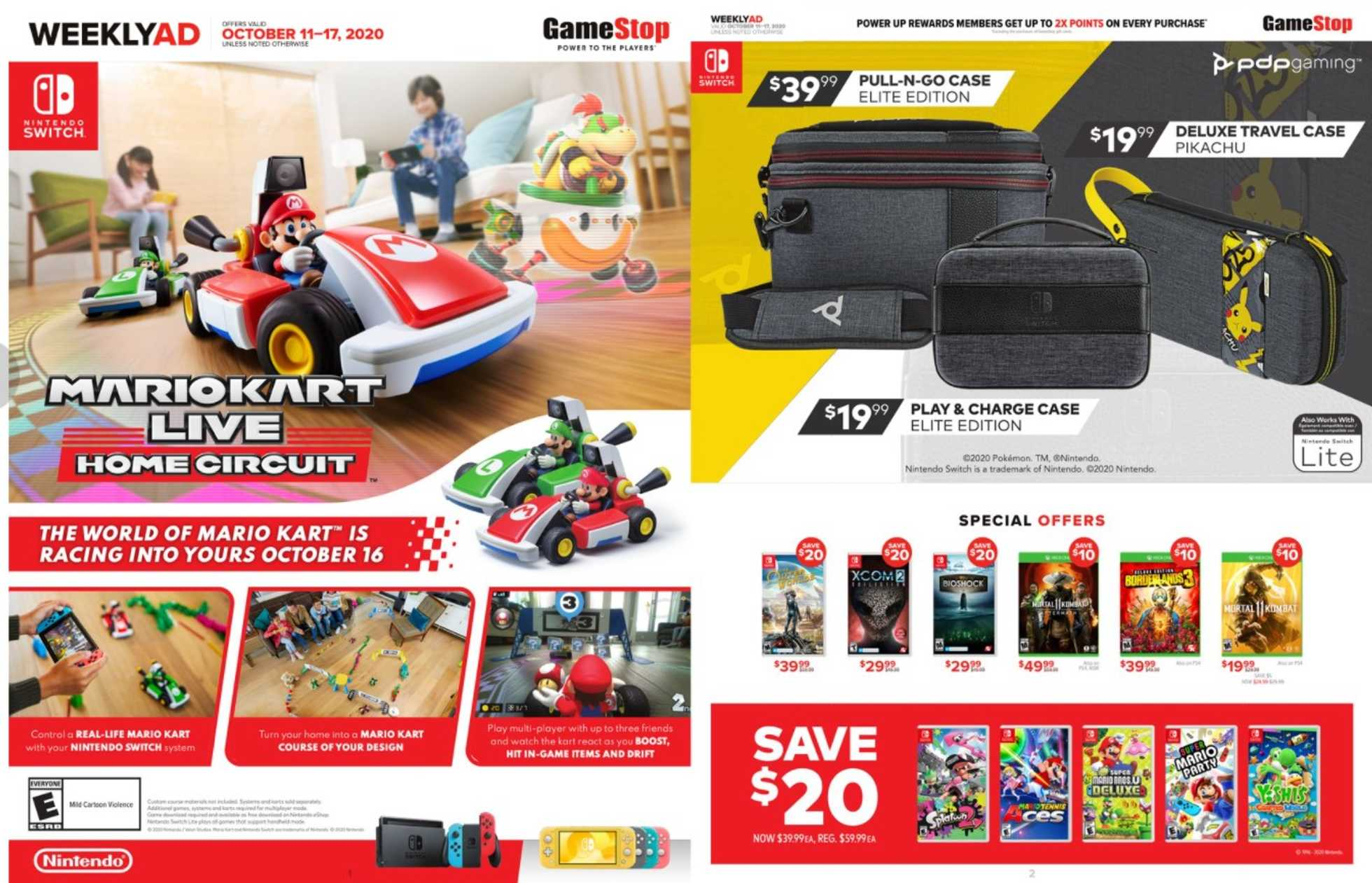 GameStop - deals are valid from 10/11/20 to 10/17/20 - page 1.
