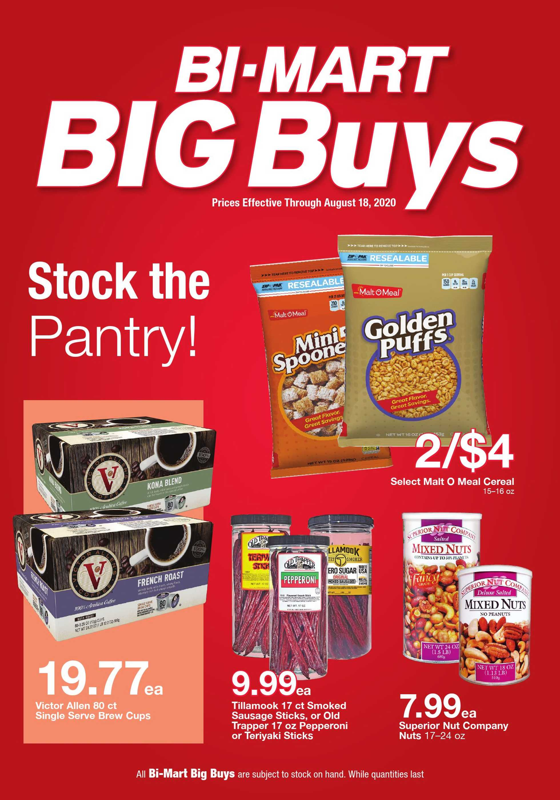 Bi-Mart - deals are valid from 08/05/20 to 08/18/20 - page 1.